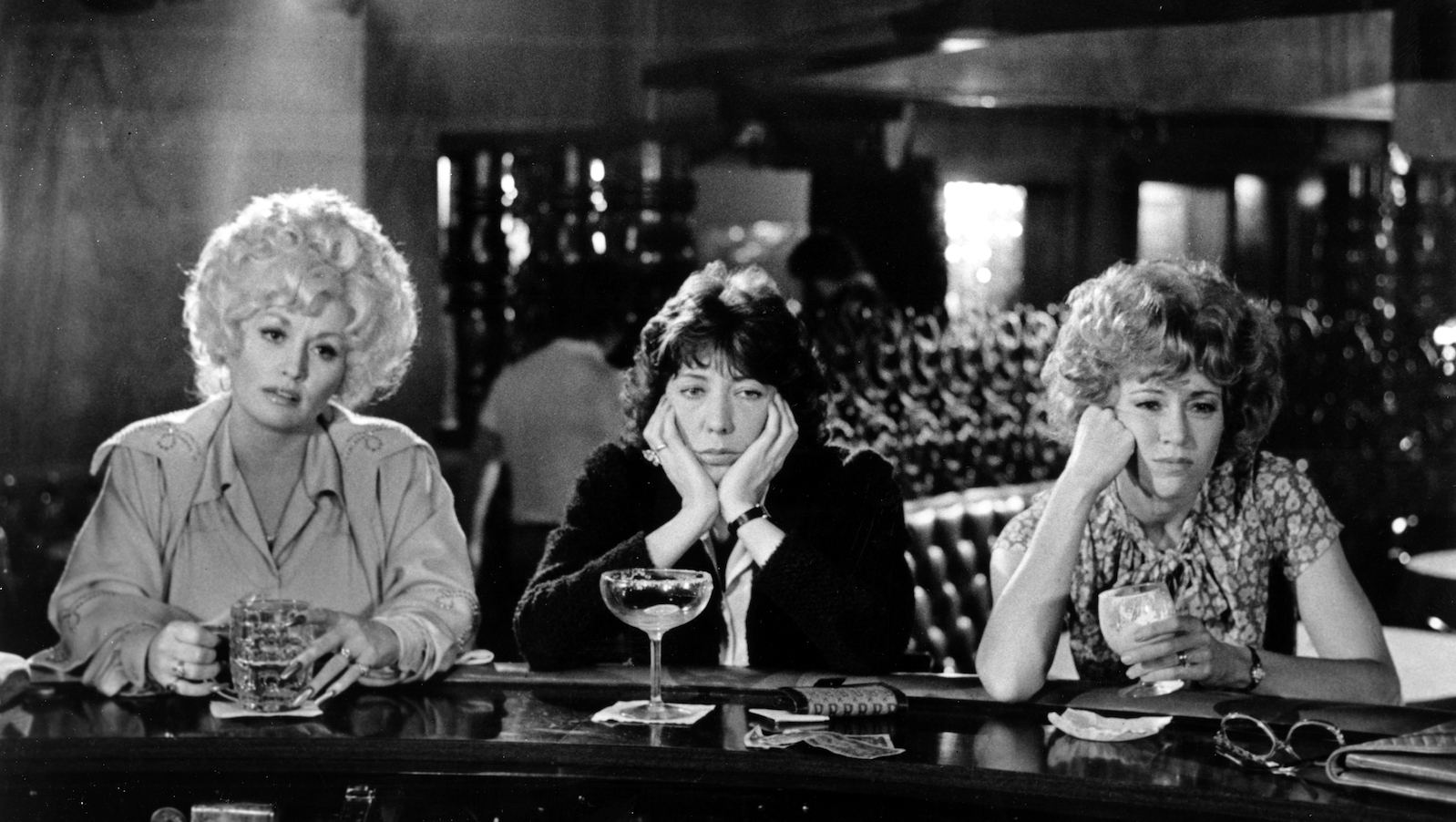 "Dolly Parton, Lily Tomlin and Jane Fonda in a scene from the movie ""9 to 5"" which was released on December 19, 1980. Images)"
