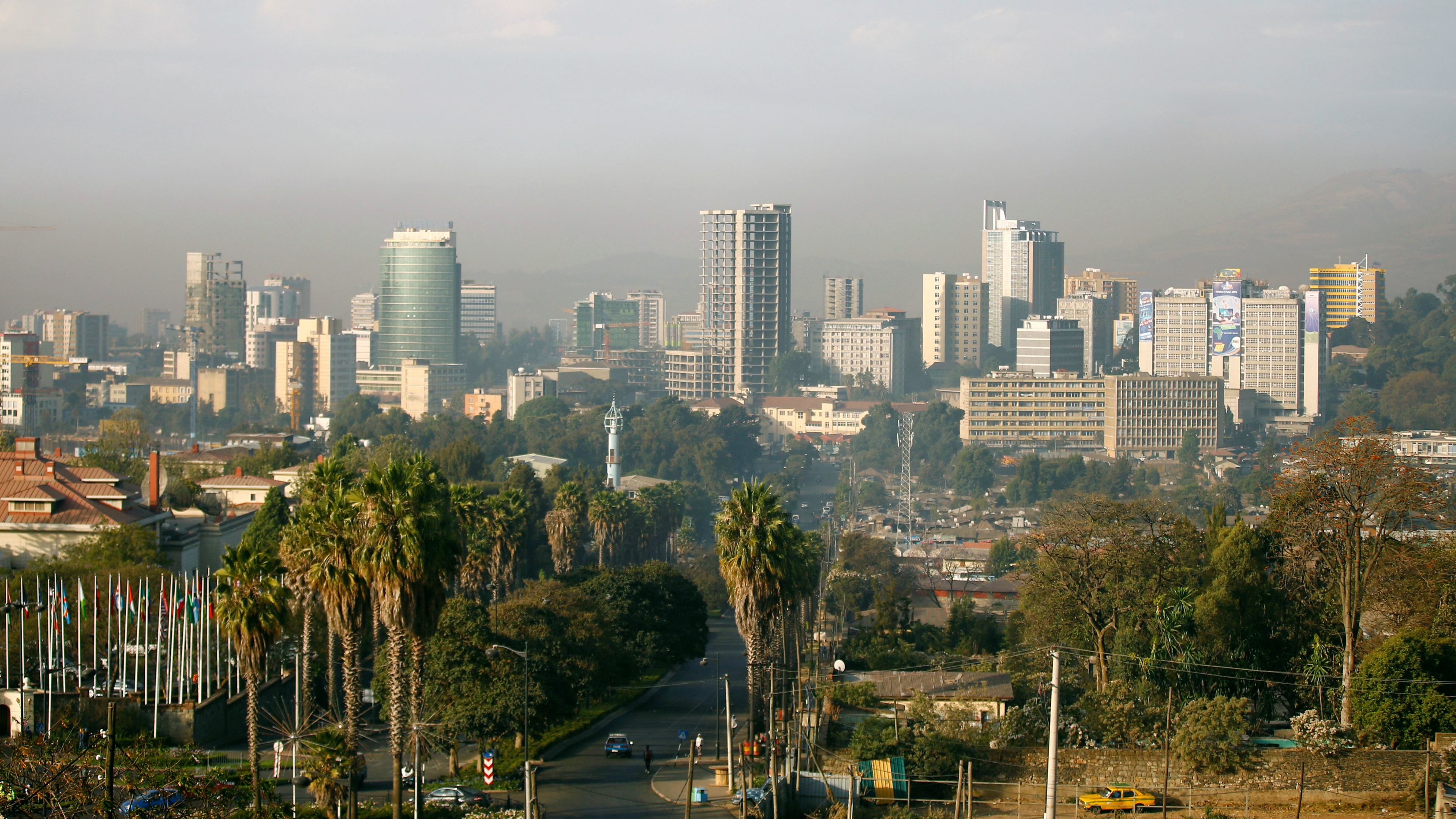 The cityscape of Addis Ababa