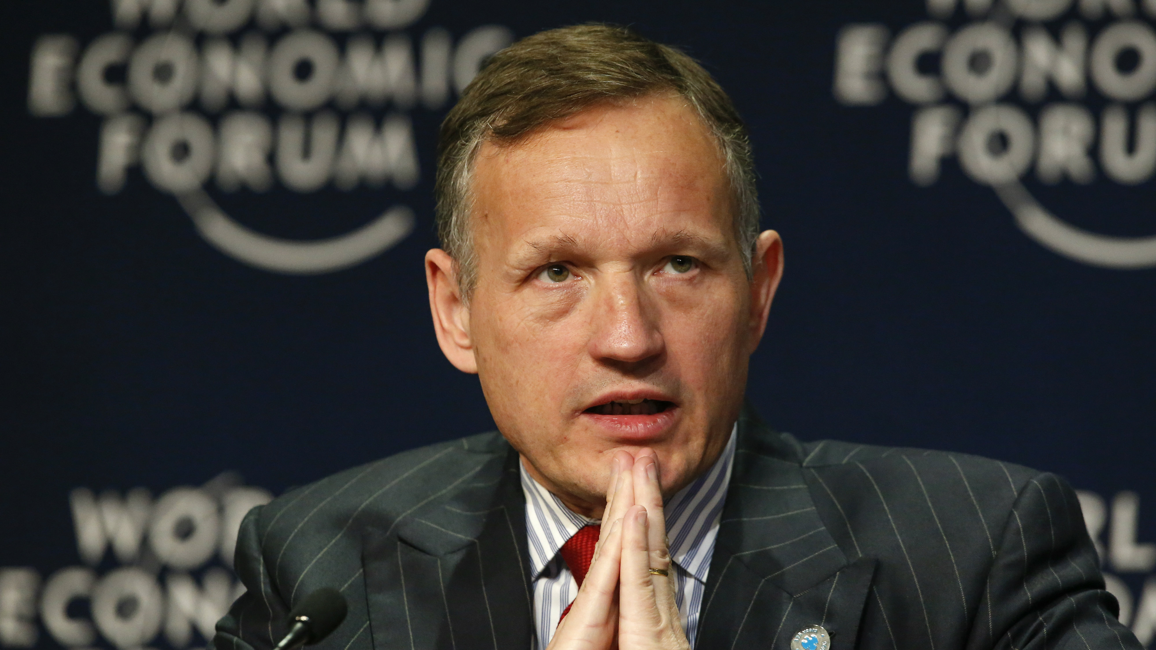 A file picture dated 05 June 2015 shows Antony Jenkins, Group Chief Executive, Barclays, United Kingdom, during the World Economic Forum on Africa at the Cape Town International Convention Centre, South Africa. According to the bank's press release on 08 July 2015, Antony Jenkins will step down as the Group Chief Executive later this month, it also states that the bank's 'non-executive directors had decided that 'new leadership is required to accelerate the pace of execution going forward'.