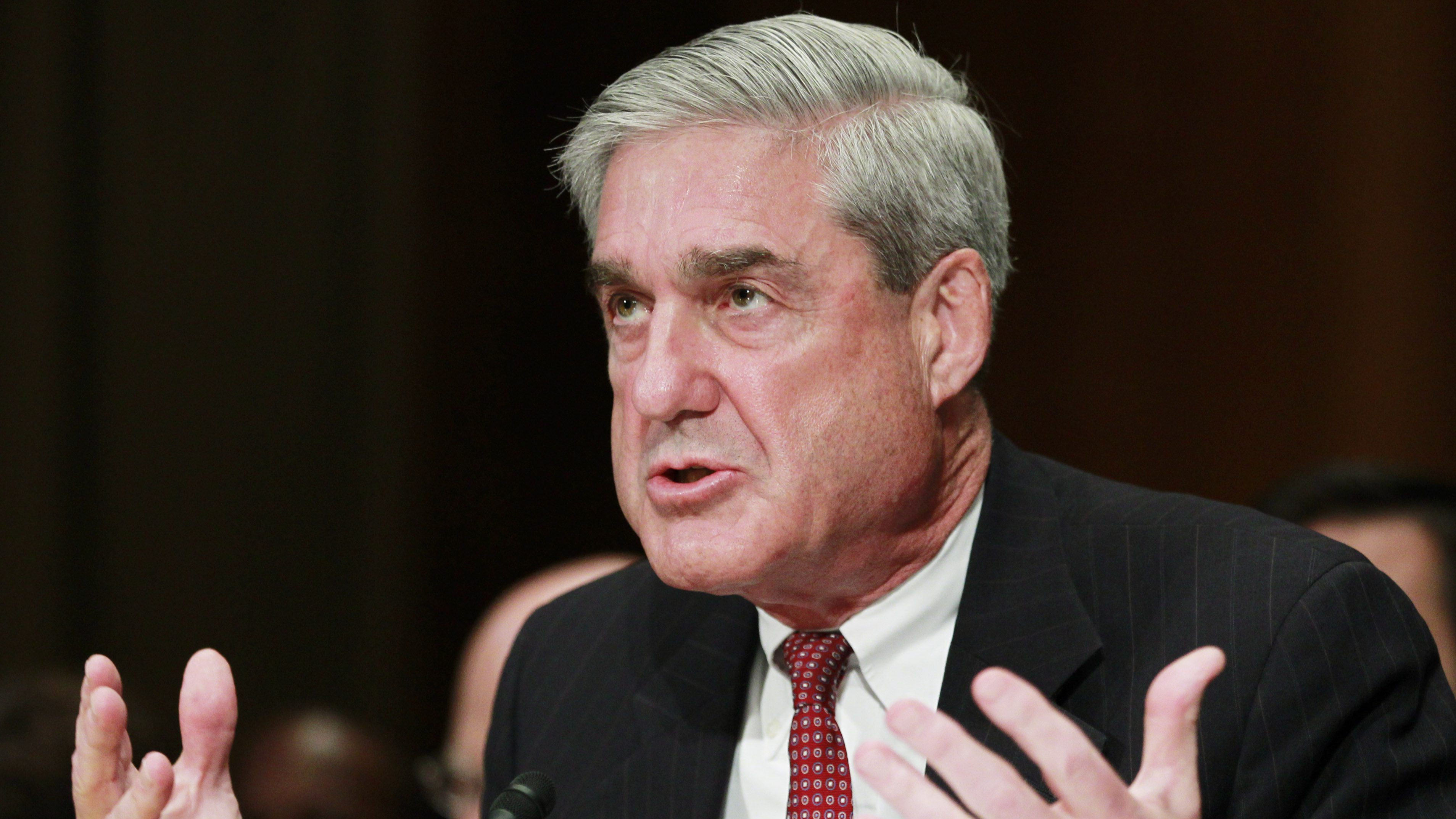 """FBI Director Robert Mueller testifies on Capitol Hill in Washington, Wednesday, July 28, 2010, before the Senate Judiciary Committee hearing on the """"Oversight of the  Federal Bureau of Investigation"""" .   (AP Photo/Manuel Balce Ceneta)"""
