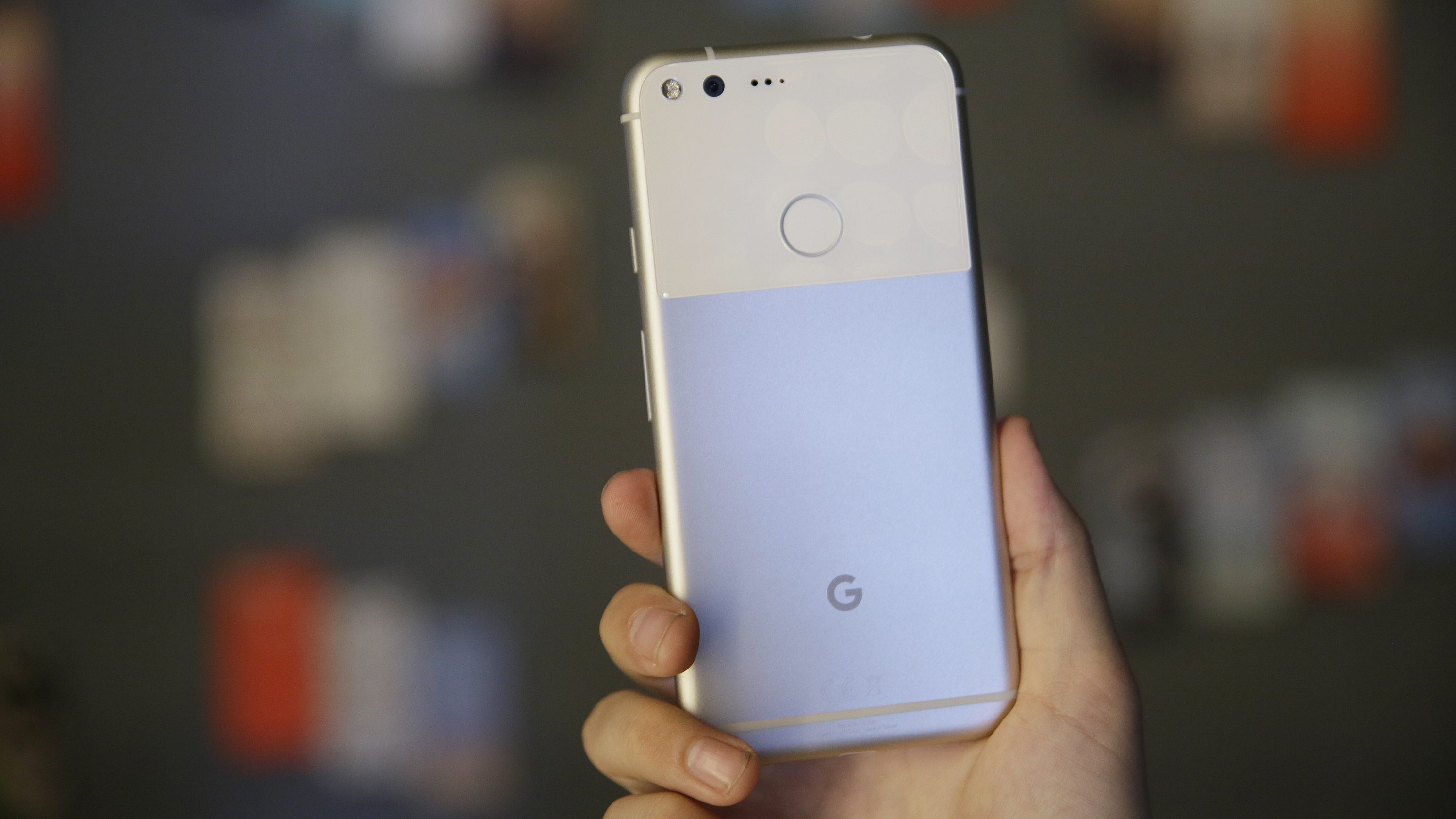 "The new Google Pixel phone is displayed following a product event, Tuesday, Oct. 4, 2016, in San Francisco. Google launched an aggressive challenge to Apple and Samsung introducing its own new line of smartphones called Pixel, which are designed to showcase a digital helper the company calls ""Google Assistant."" The new phones represent a big, new push by Google to sell its own consumer devices, instead of largely just supplying software for other manufacturers. (AP Photo/Eric Risberg)"