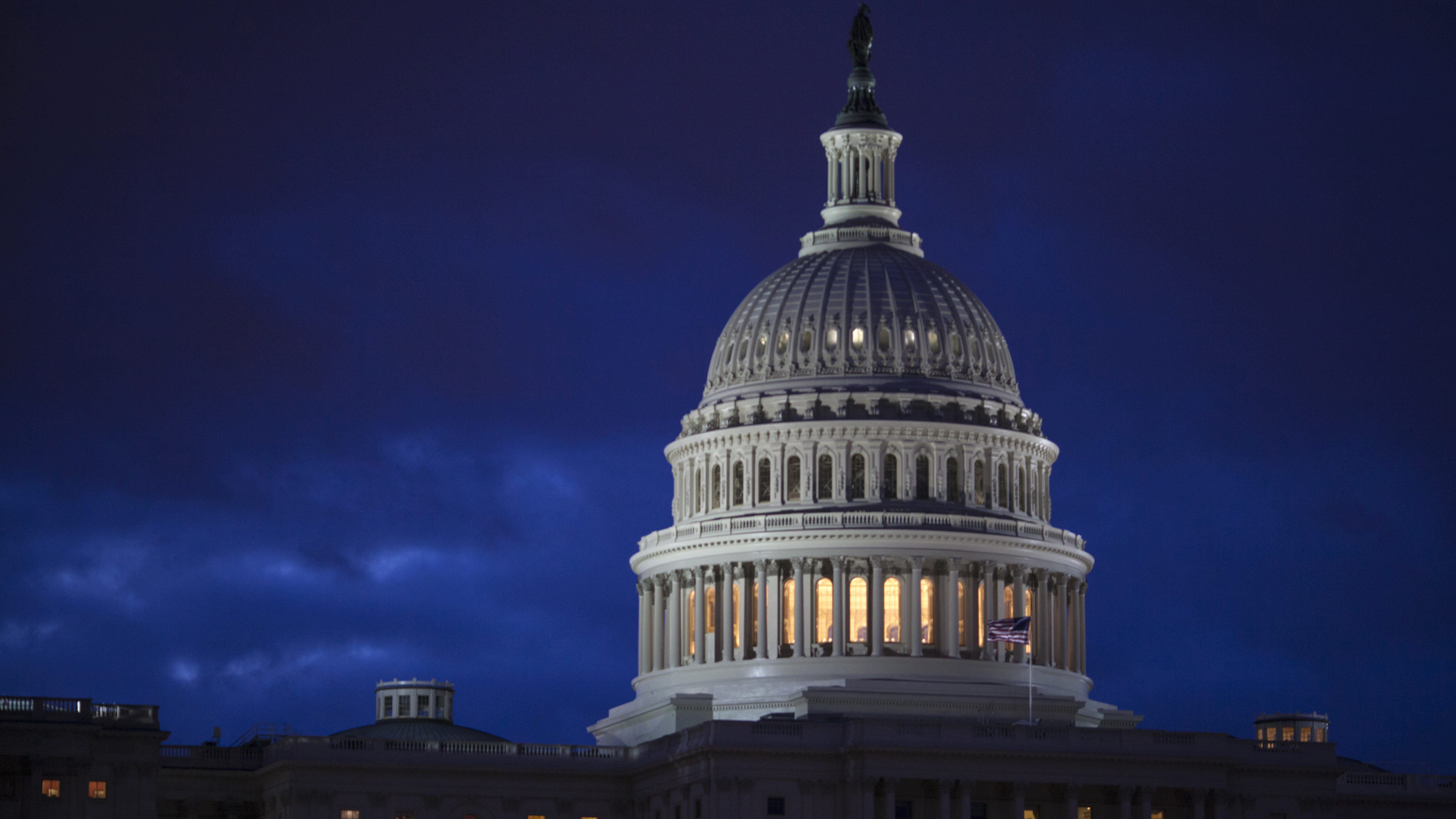 FILE - In this April 4, 2017, file photo, the Capitol is seen at dawn in Washington. Bipartisan bargainers are making progress toward a budget deal to prevent a partial federal shutdown this weekend, a major hurdle overcome when President Donald Trump signaled he would put off his demand that the measure include money to build his border wall with Mexico. (AP Photo/J. Scott Applewhite, File)