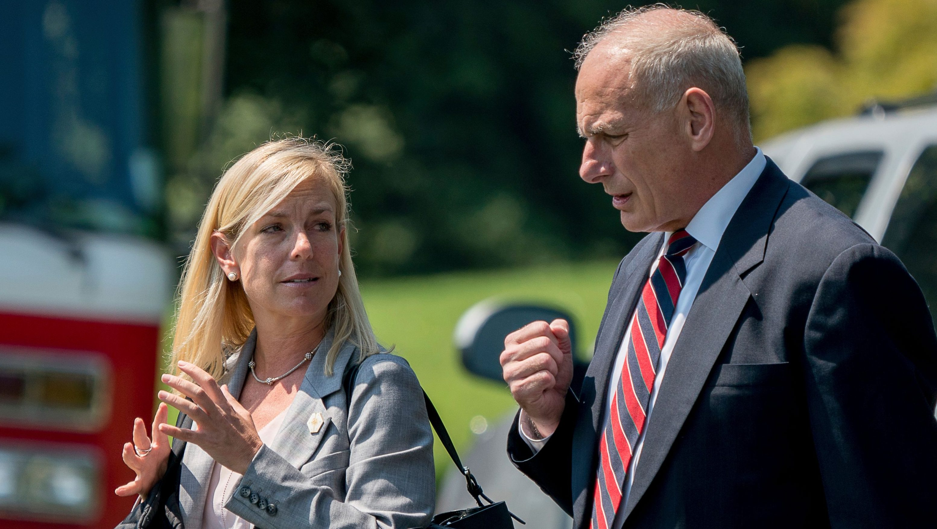 Nielsen seen with chief of staff John Kelly in 2017