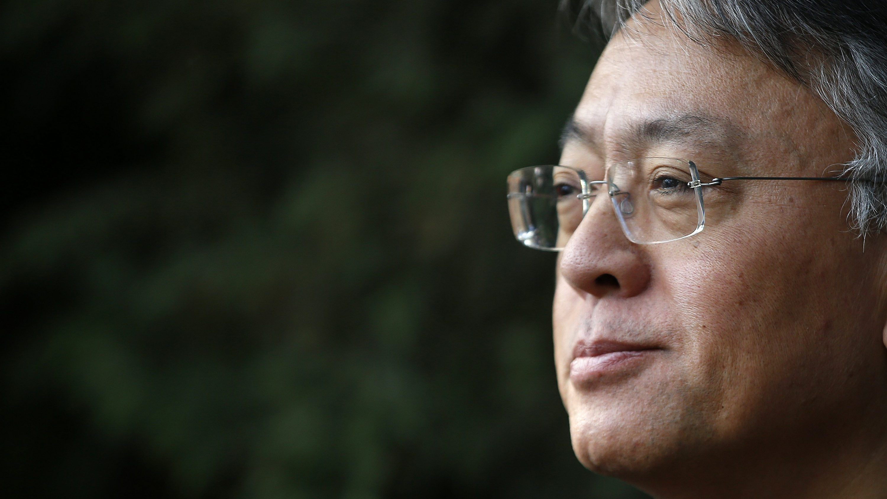 "British novelist Kazuo Ishiguro during a press conference at his home in London, Thursday Oct. 5, 2017. Ishiguro, best known for ""The Remains of the Day,"" won the Nobel Literature Prize on Thursday, marking a return to traditional literature following two years of unconventional choices by the Swedish Academy for the 9-million-kronor ($1.1 million) prize."