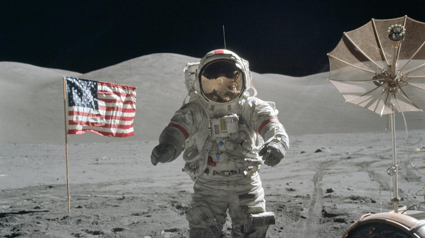 neil armstrong on the moon - HD 1920×1080