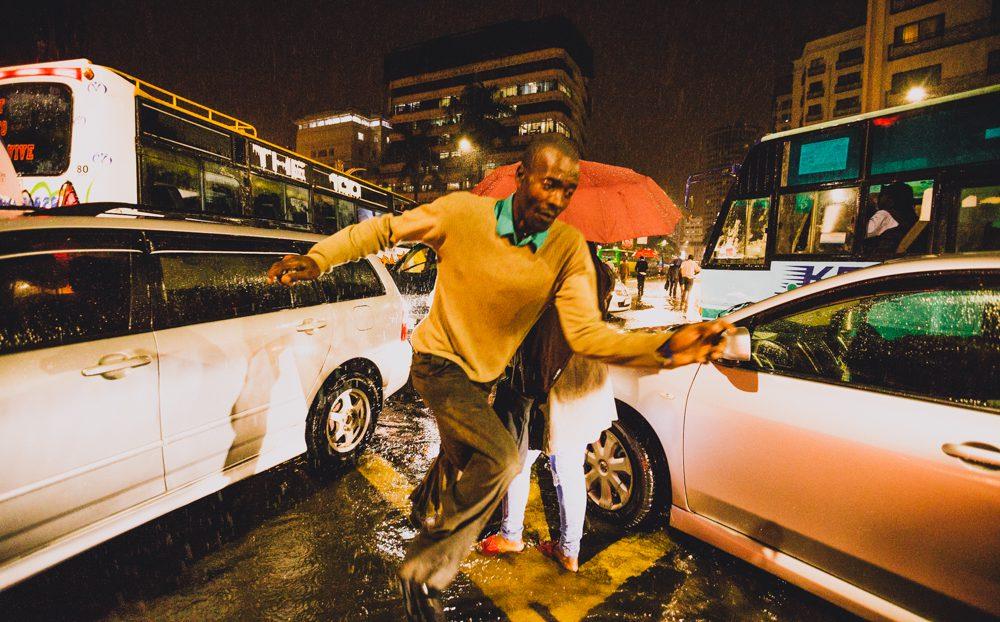 Caught in the rain in Nairobi's CBD