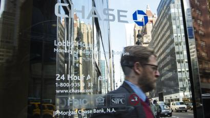 A Chase bank window.