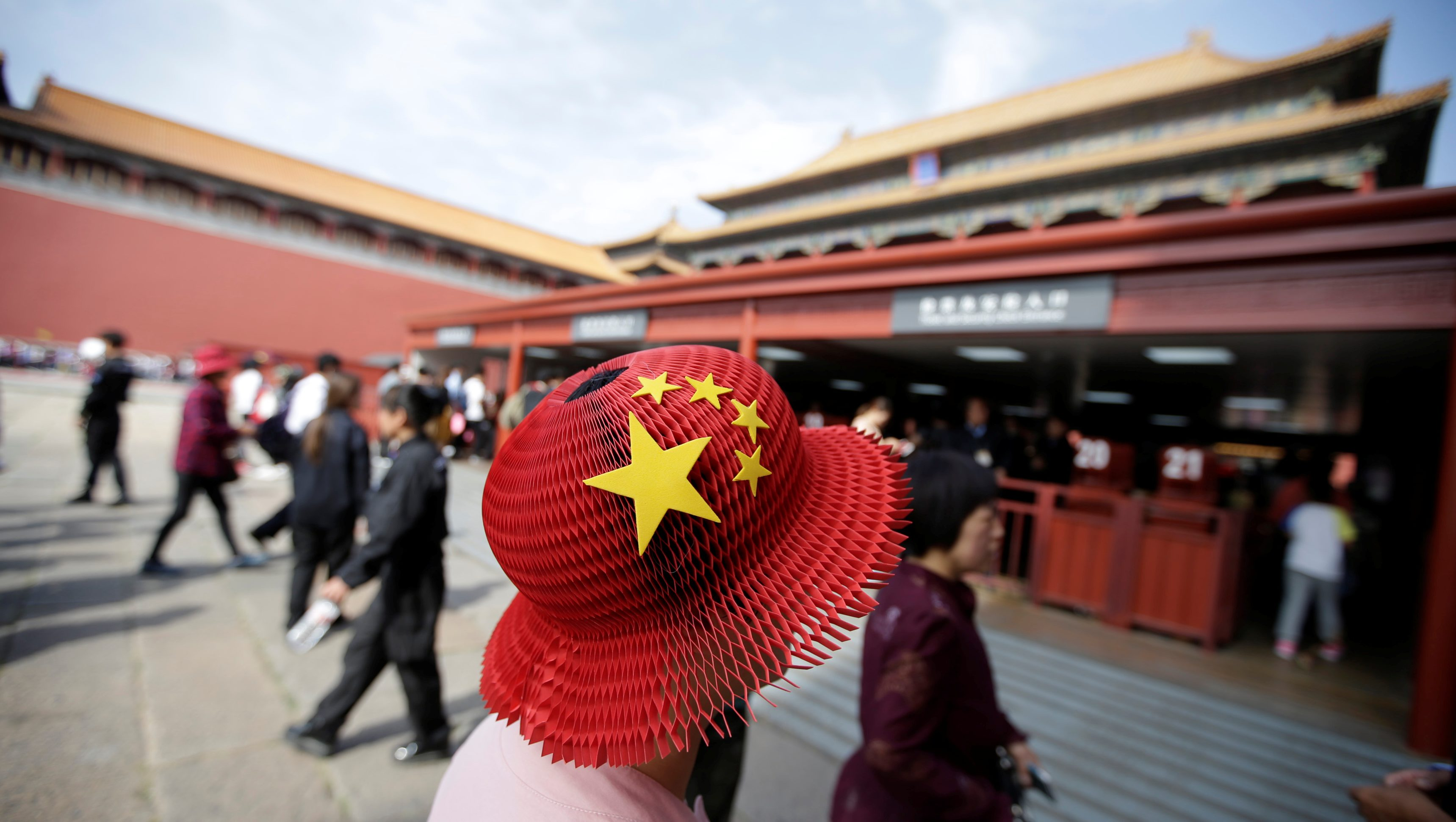 Tourists visit the Forbidden City in central Beijing, China, on China's 68th National Day October 1, 2017.