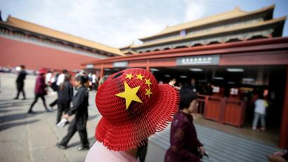 Tourists Visit The Forbidden City In Central Beijing China On Chinas 68th National Day