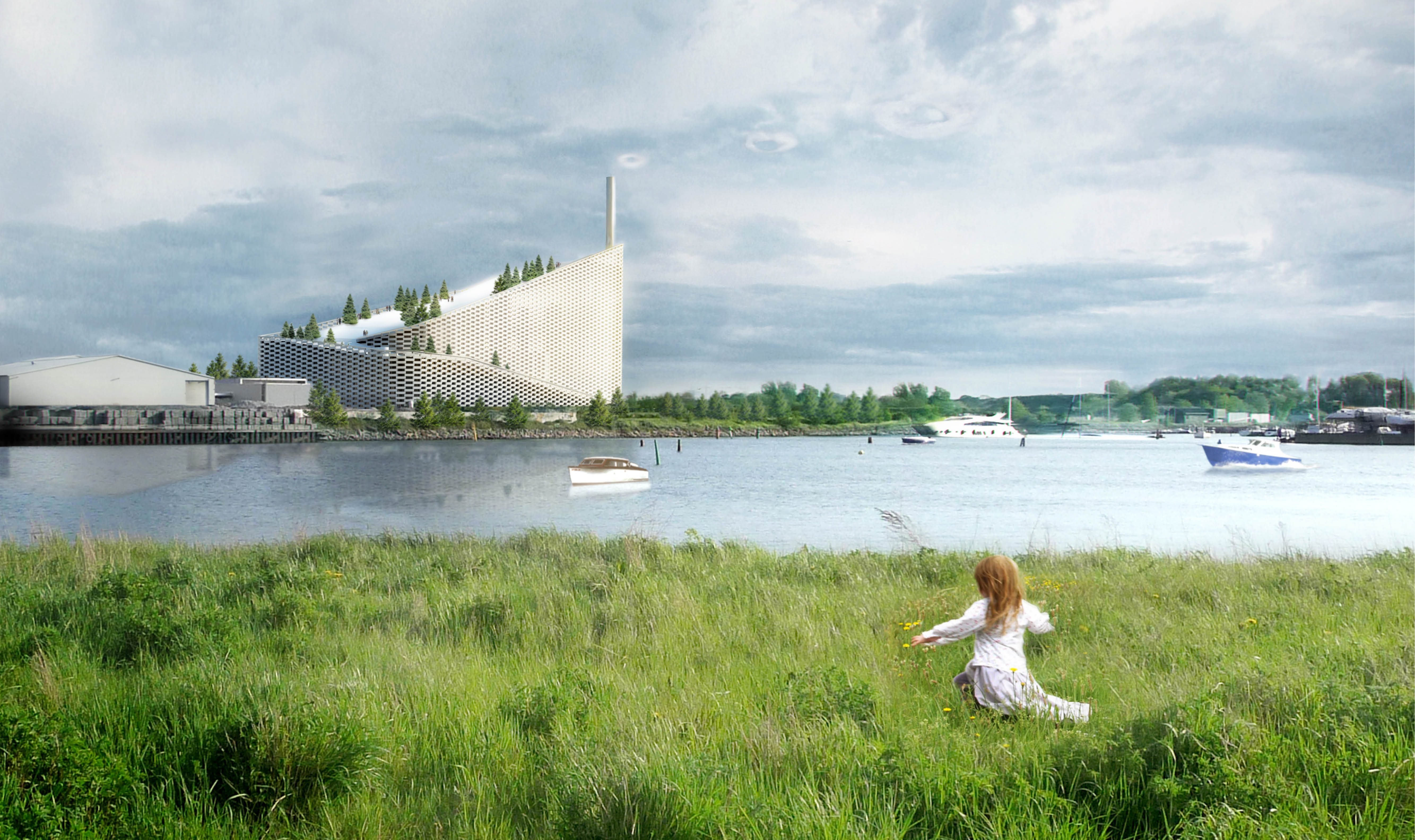 Rendering of Amager Bakke/CopenHill by Bjarke Ingels Group