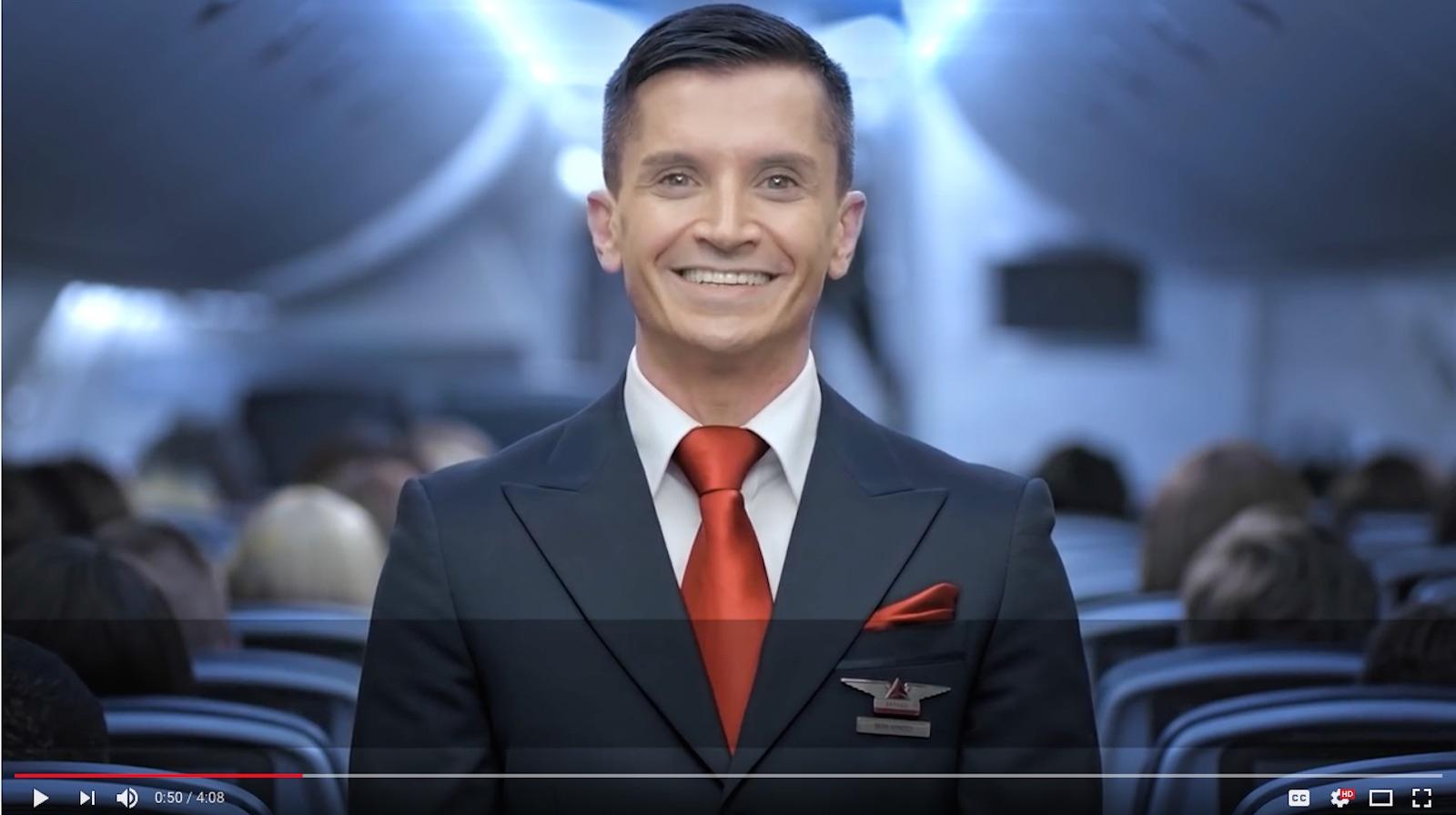 Delta Air Lines safety video screenshot