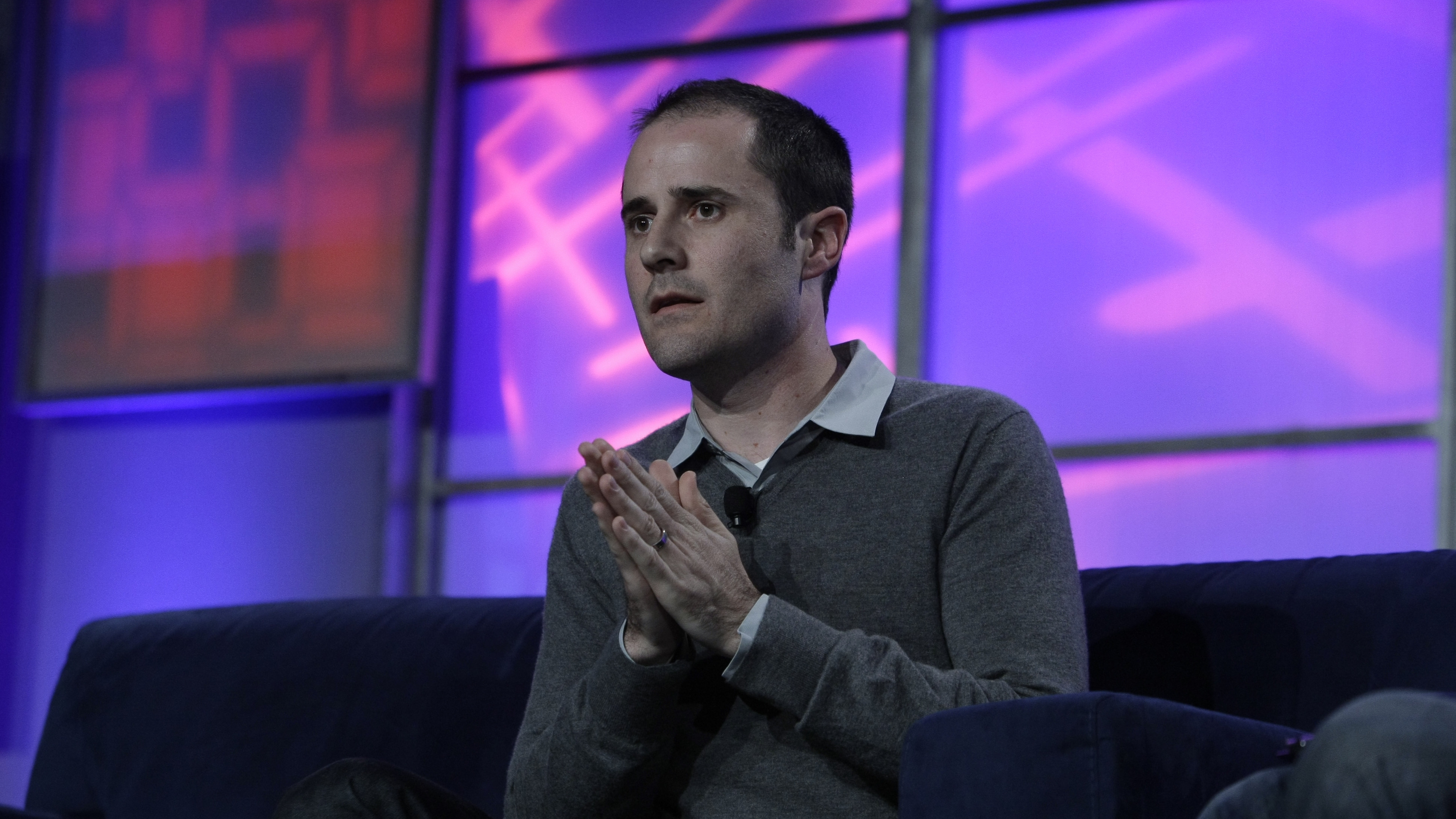 Twitter co-founder and former CEO Evan Williams speaks at the Web 2.0 Summit in San Francisco, Wednesday, Nov. 17, 2010. (AP Photo/Paul Sakuma)