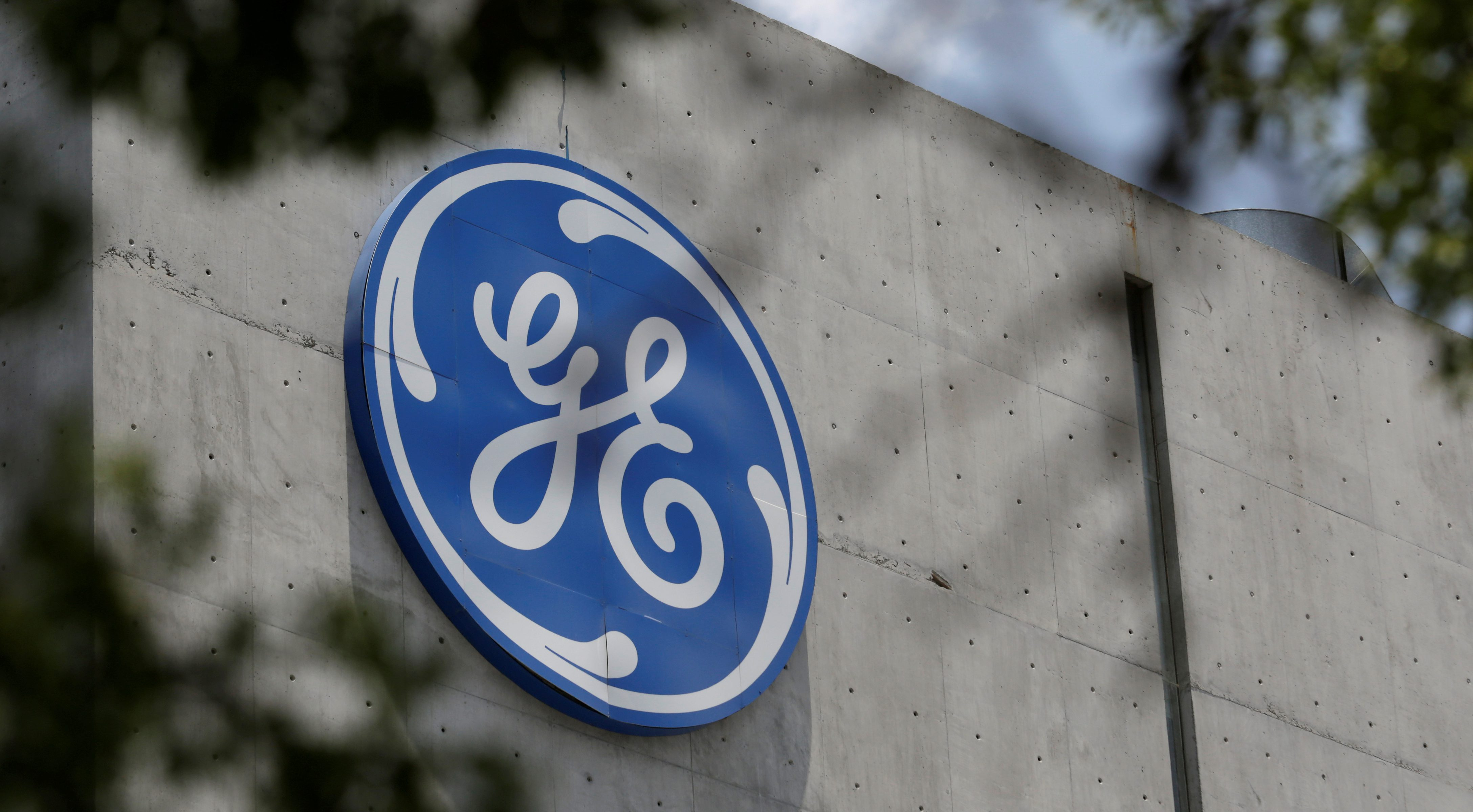The logo of General Electric Co. is pictured at the Global Operations Center in San Pedro Garza Garcia, neighbouring Monterrey, Mexico, on May 12, 2017.