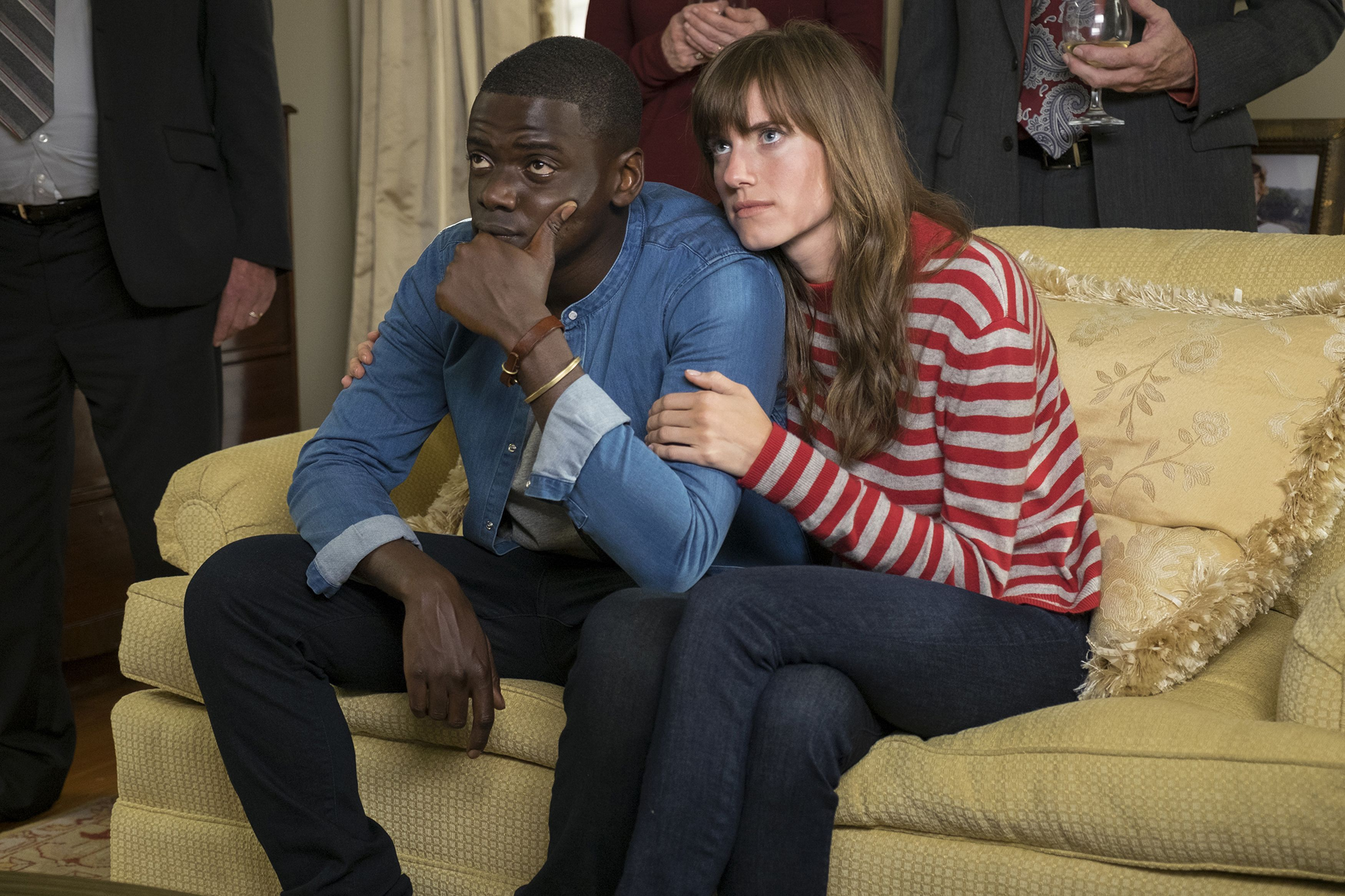Daniel Kaluuya and Allison Williams in Get Out (2017).