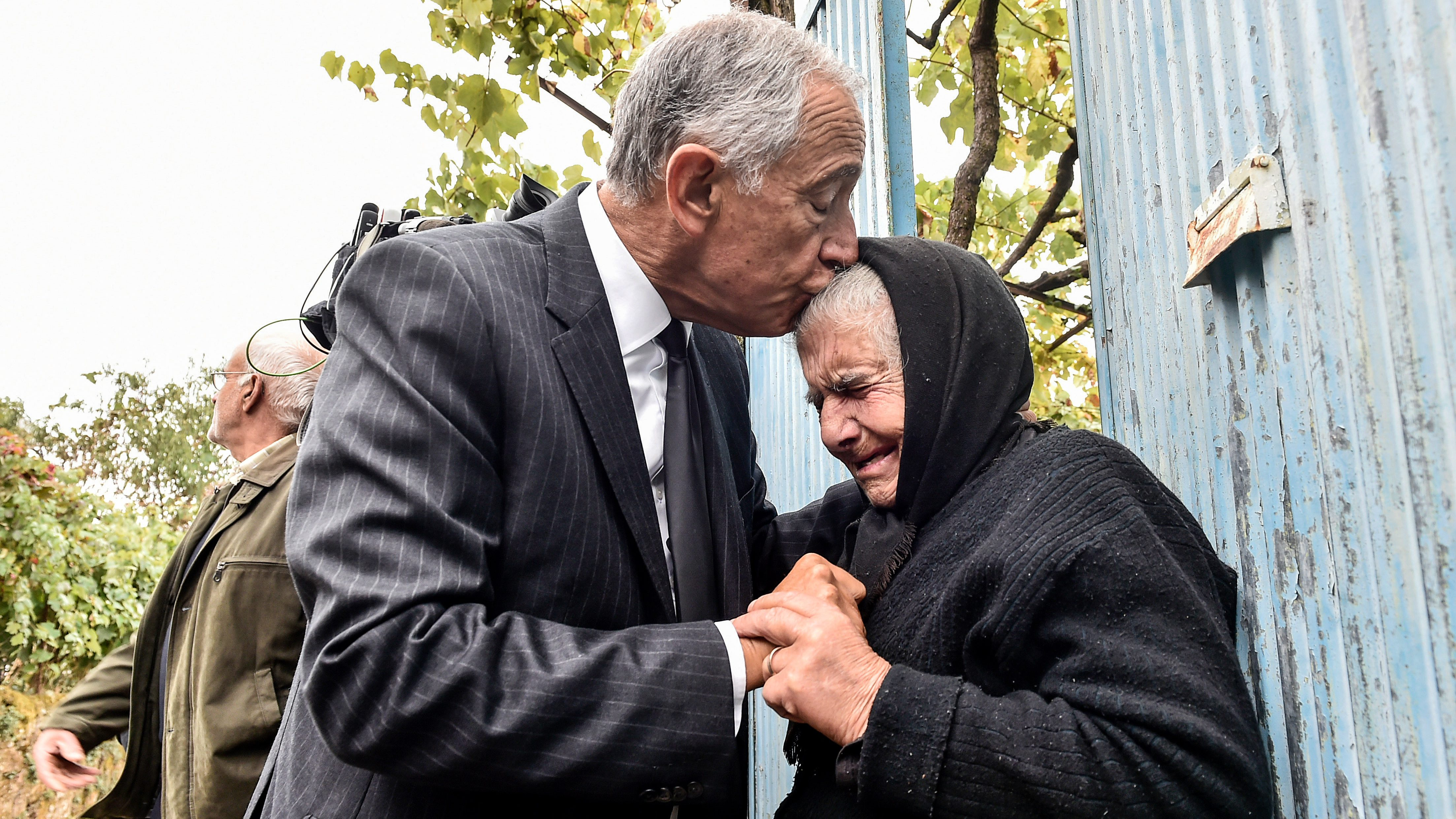 Portuguese President Marcelo Rebelo de Sousa visits municipalities affected by the wildfires