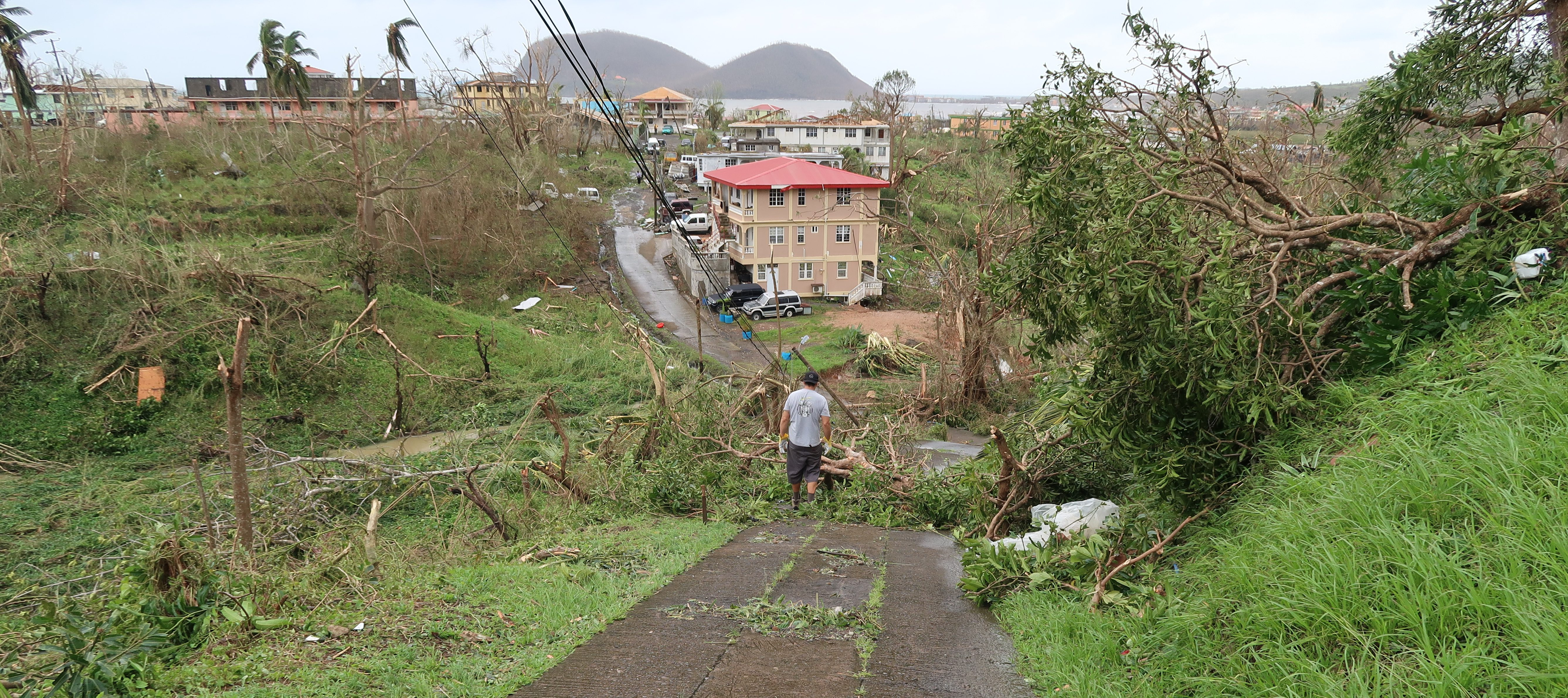 Dominica after Hurricane Maria.