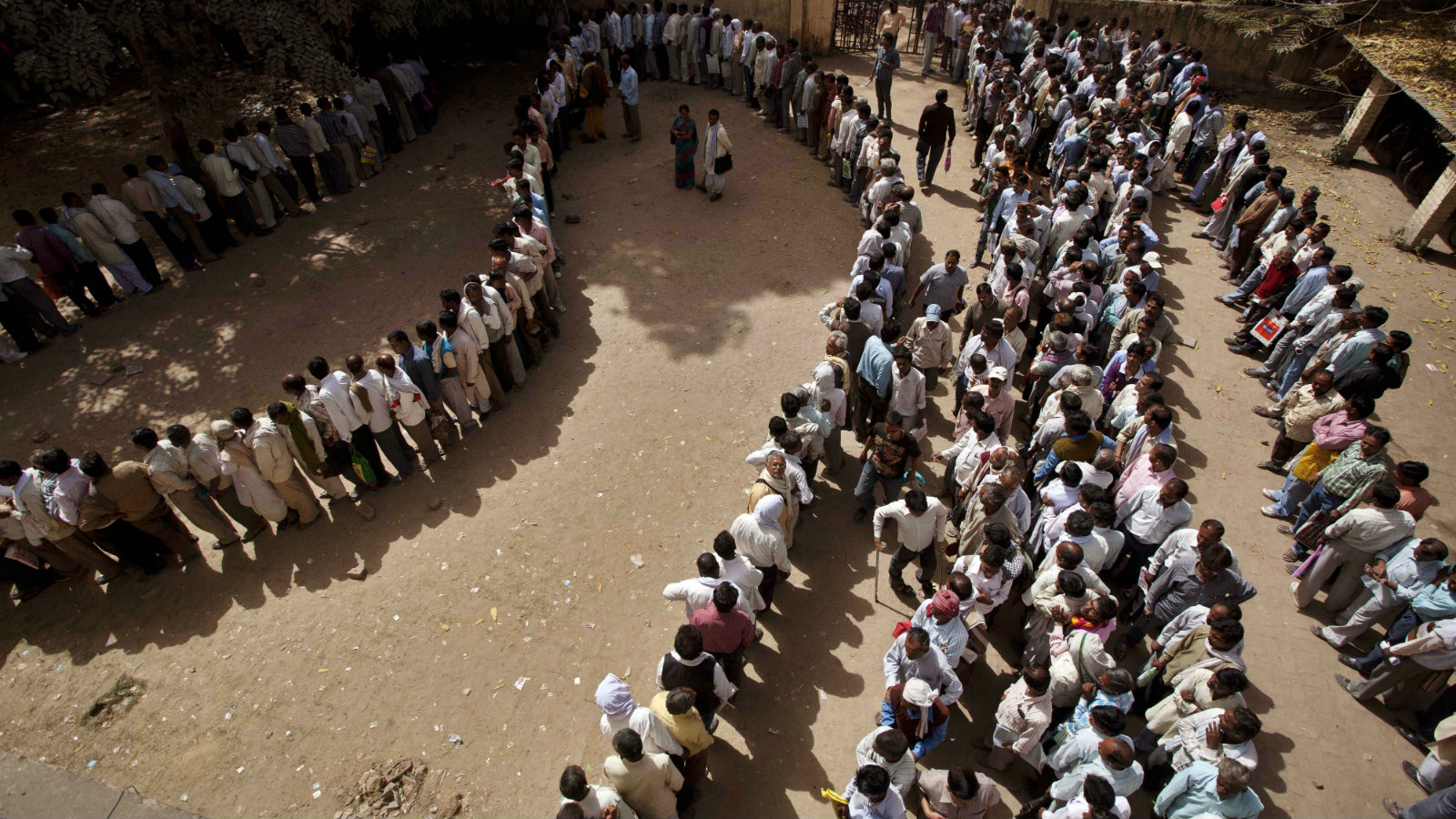 File photo, unemployed Indians stand in a queue to register themselves at the Employment Exchange Office in Allahabad, in the northern Indian state of Uttar Pradesh.