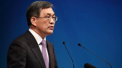 DATE IMPORTED:October 27, 2016Kwon Oh-Hyun, chief executive officer of Samsung Electronics Co., speaks during the companyÕs extraordinary general meeting of shareholders at the Seocho office building in Seoul, South Korea, on Thursday, Oct. 27, 2016.