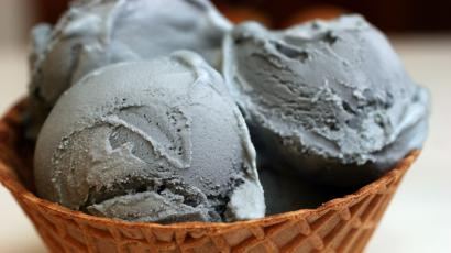 Black licorice ice cream.
