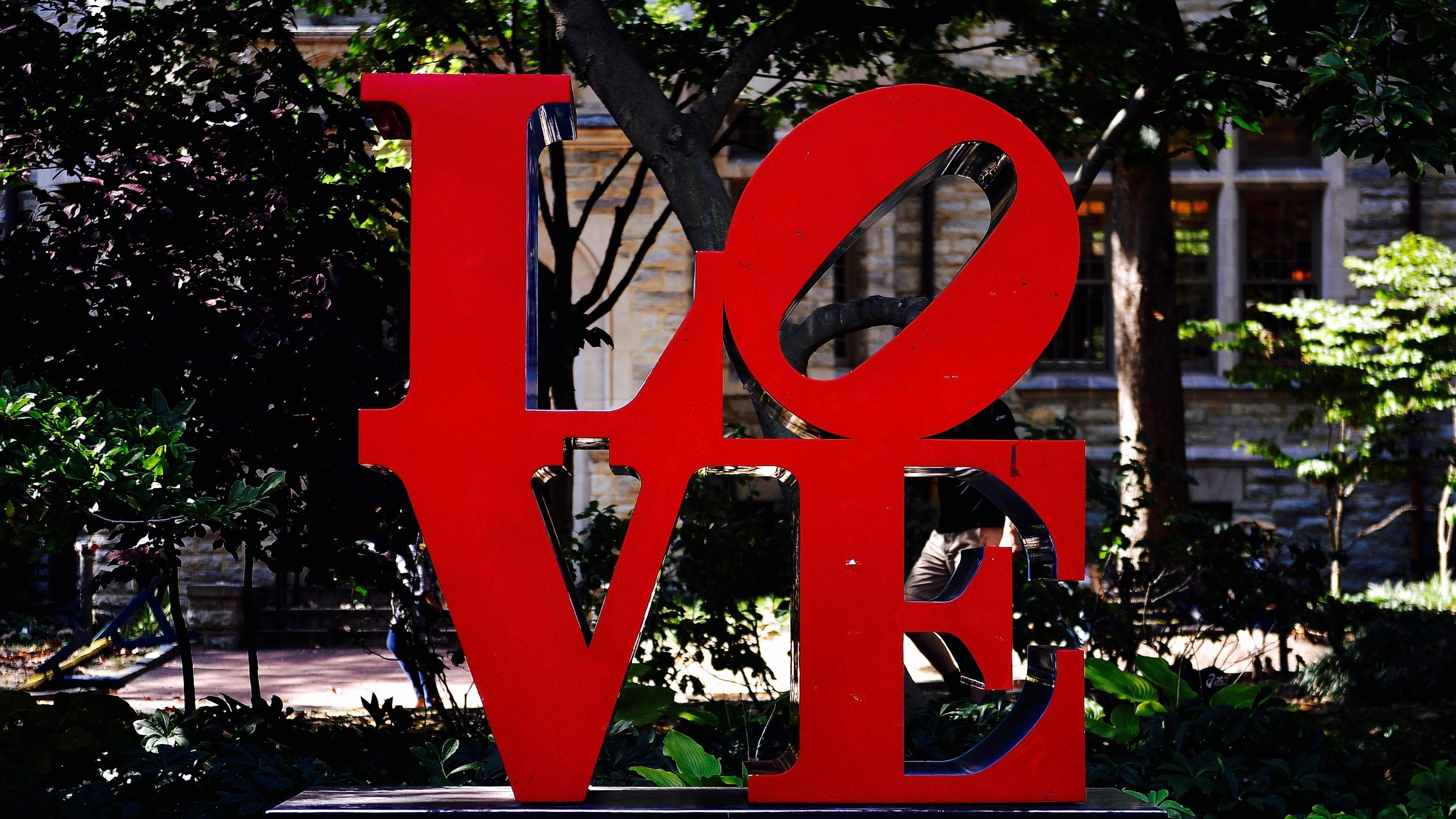 Love statue.