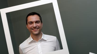 Nathan Blecharczyk, co-founder and chief technology officer of Airbnb, poses during an Airbnb event in Paris, France, March 7, 2017. Picture taken March 7, 2017. REUTERS/Philippe Wojazer - LR1ED380NVS9R