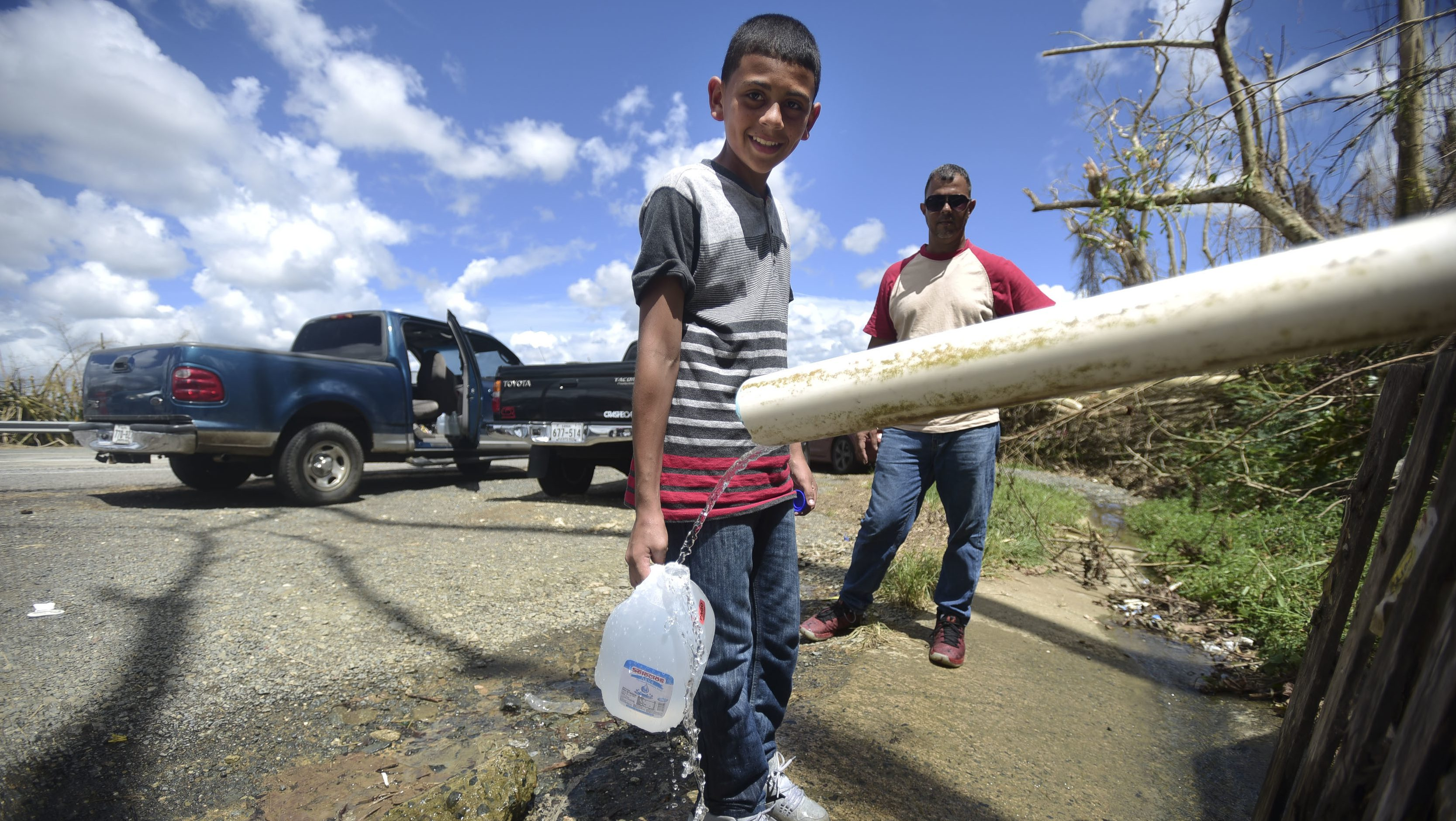 A large portion of the Puerto Rican population still can't access safe drinking water, so they're turning to other means.