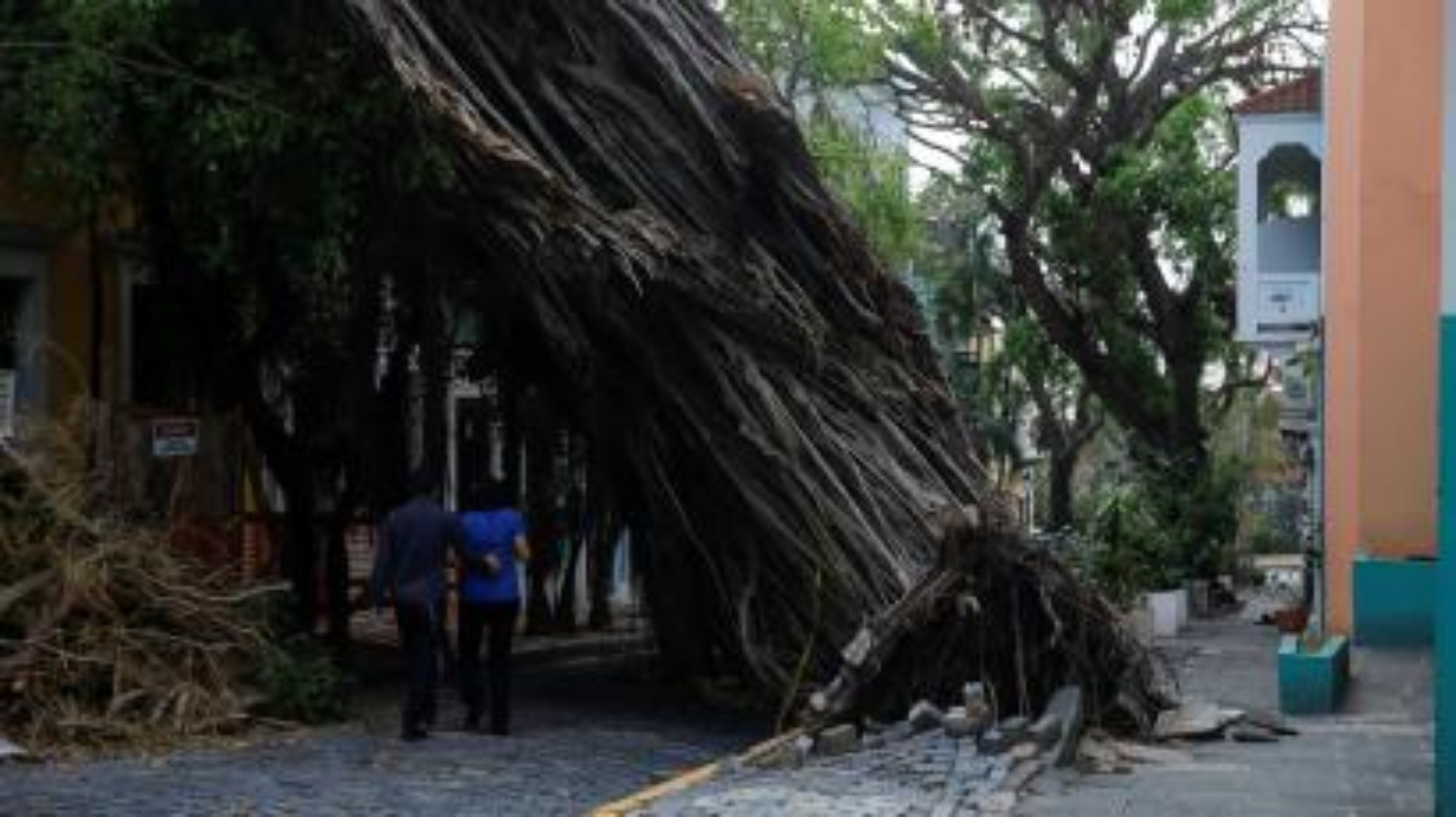Hurricane Maria affected area of Old San Juan