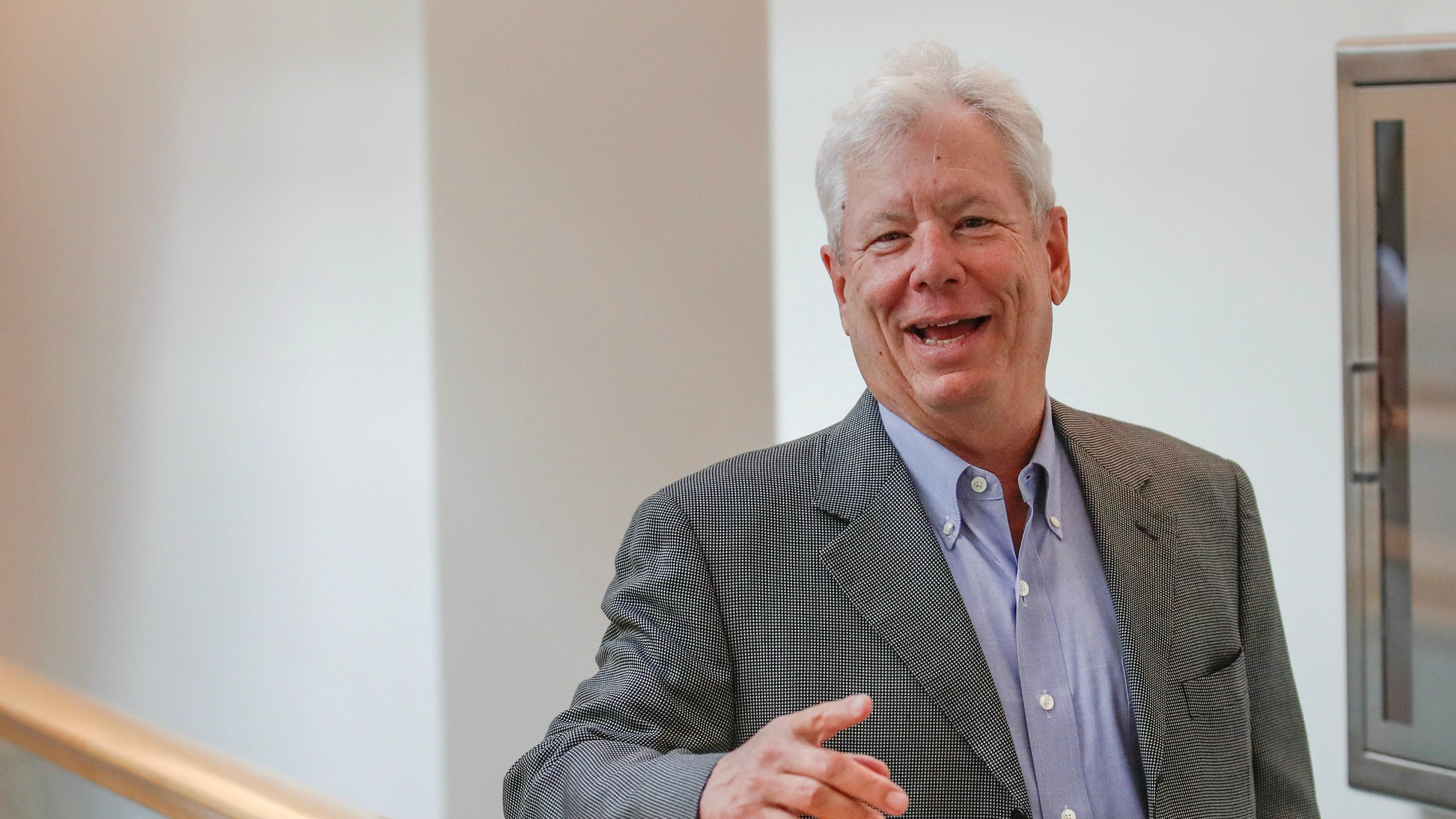 U.S. economist Richard Thaler after winning the 2017 Nobel Economics Prize
