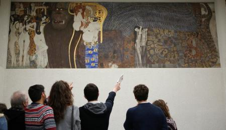 Gustav Klimt's Beethoven Frieze at the Secession museum in Vienna