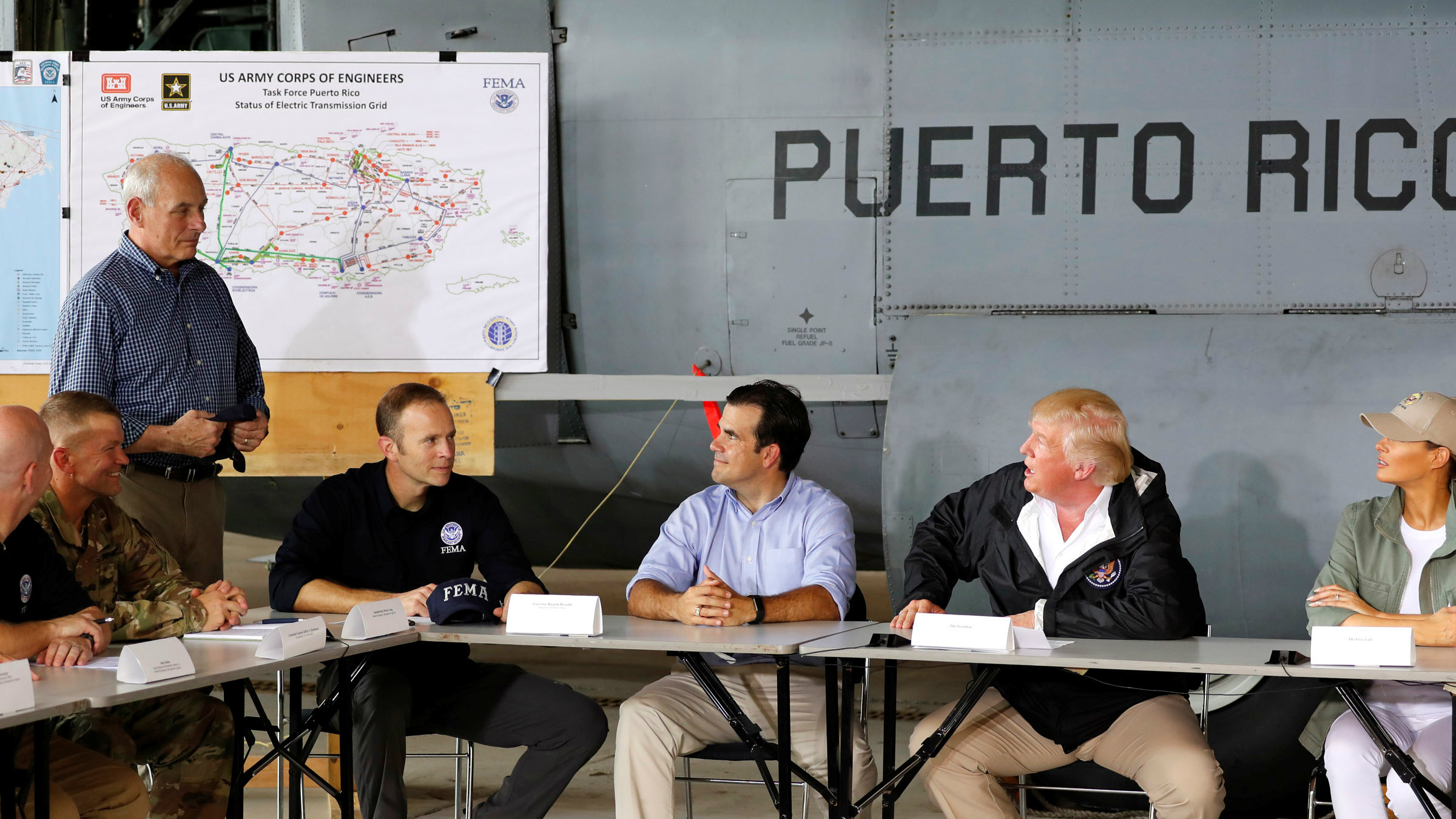 Nearly two weeks after Maria obliterated Puerto Rico, president Trump left Washington for the island.