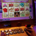 A slot machine is pictured at Solaire Casino in Pasay City, Metro Manila