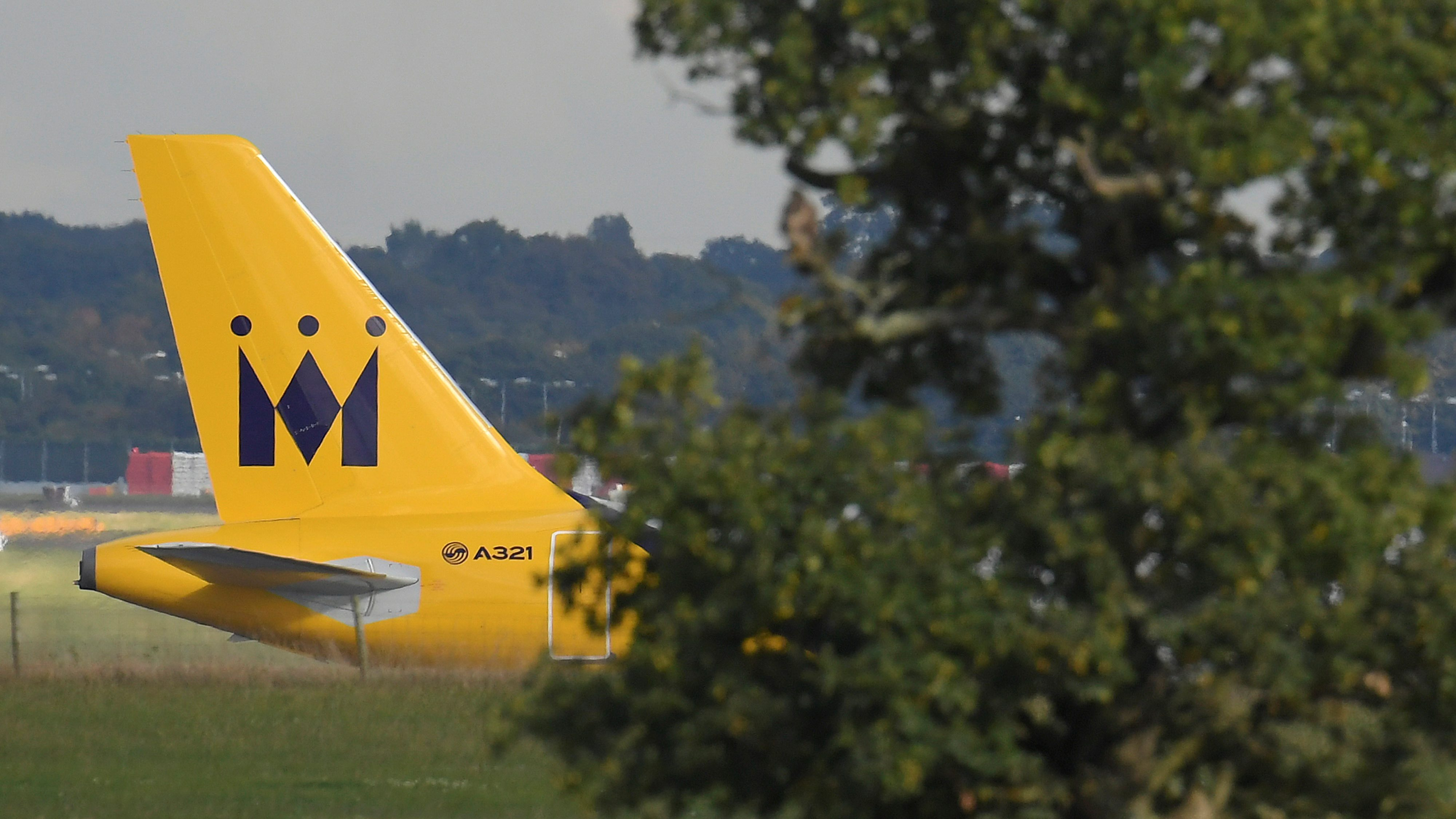 A Monarch Airlines passenger aircraft prepares for take off from Gatwick Airport in southern England, Britain, October 9, 2016.