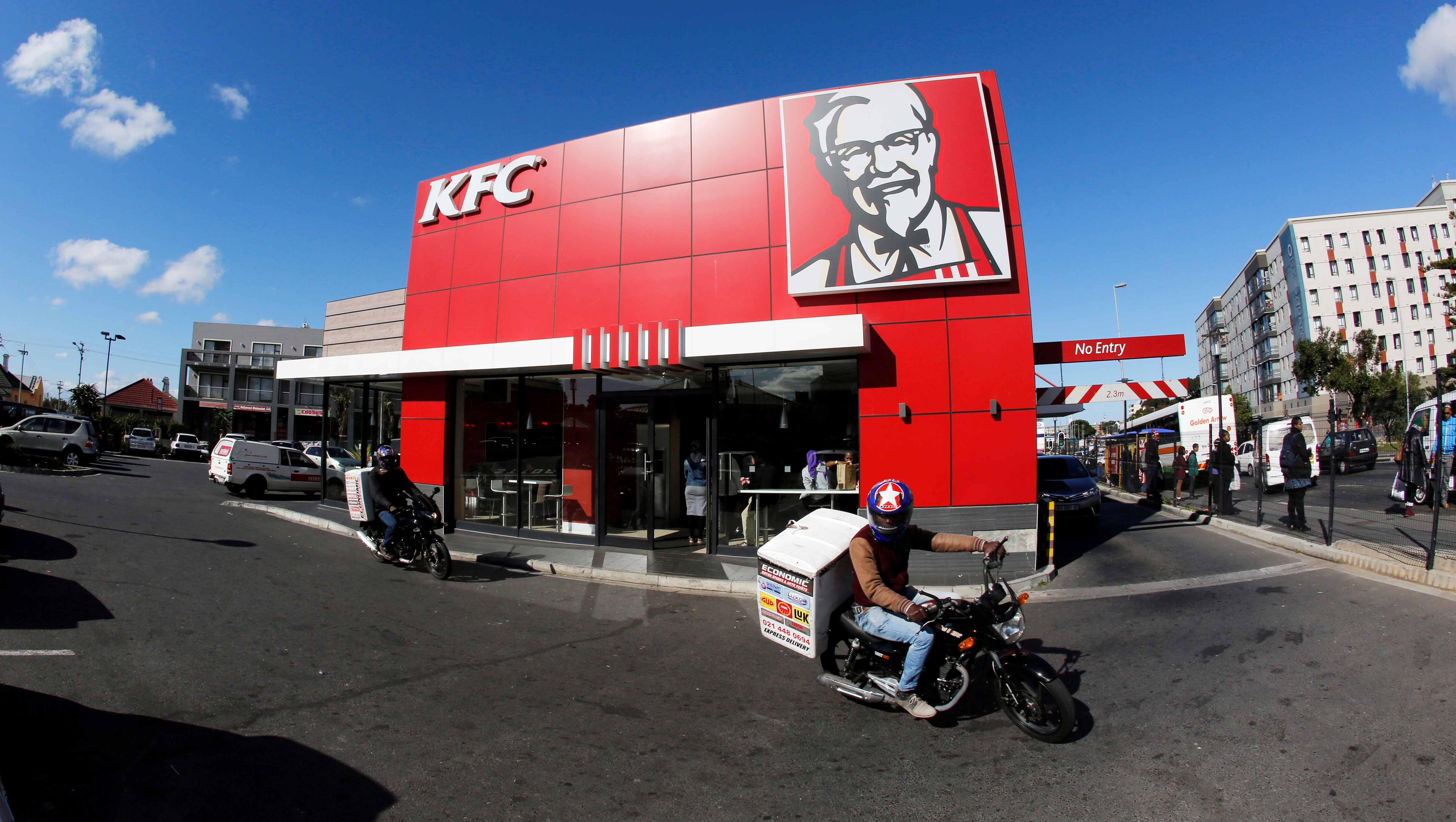 A branch of fast food outlet Kentucky Fried Chicken (KFC) is seen in Cape Town, South Africa, June 3, 2016.
