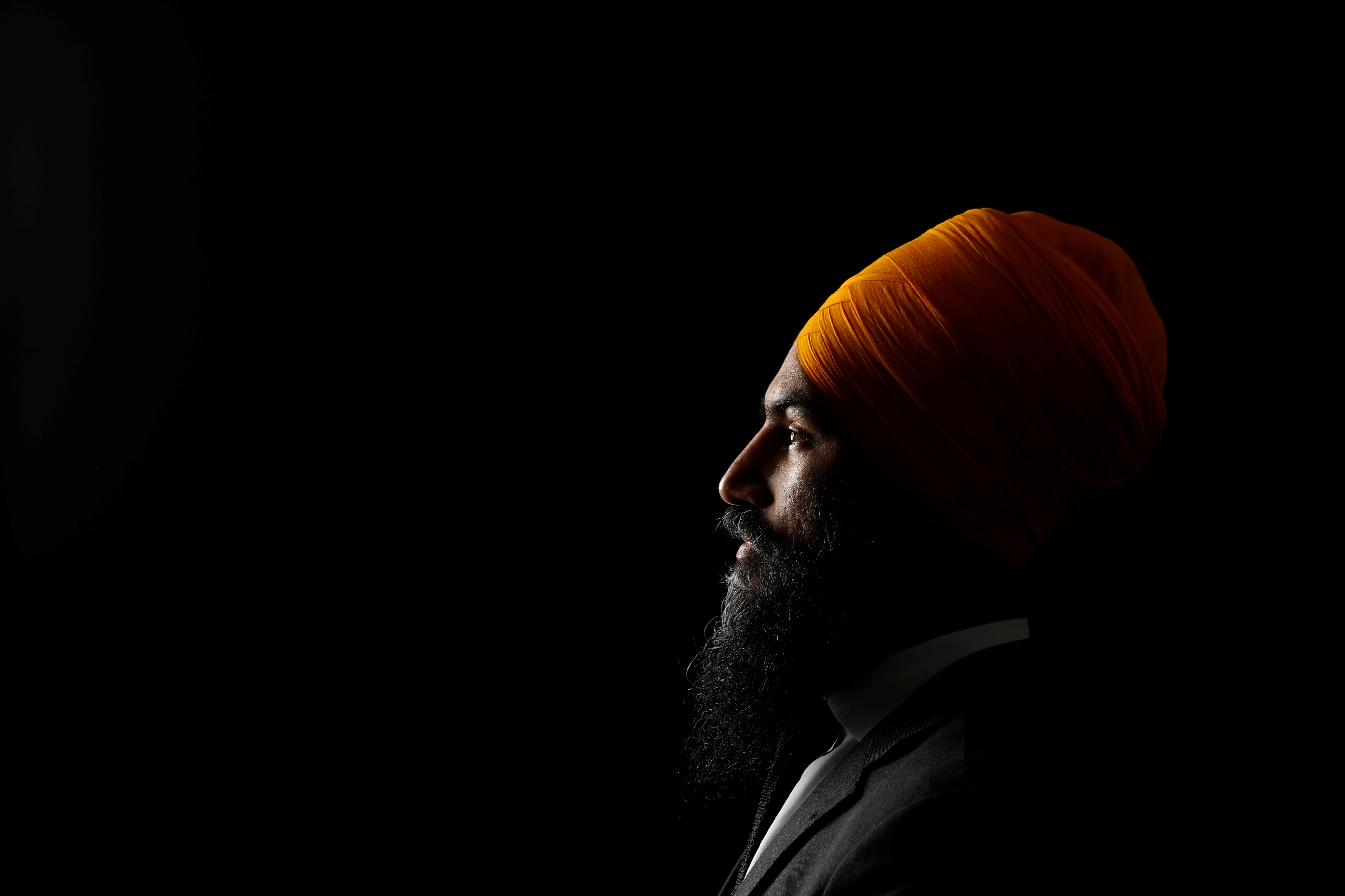 New Democratic Party leadership candidate Singh poses for a picture in Brampton