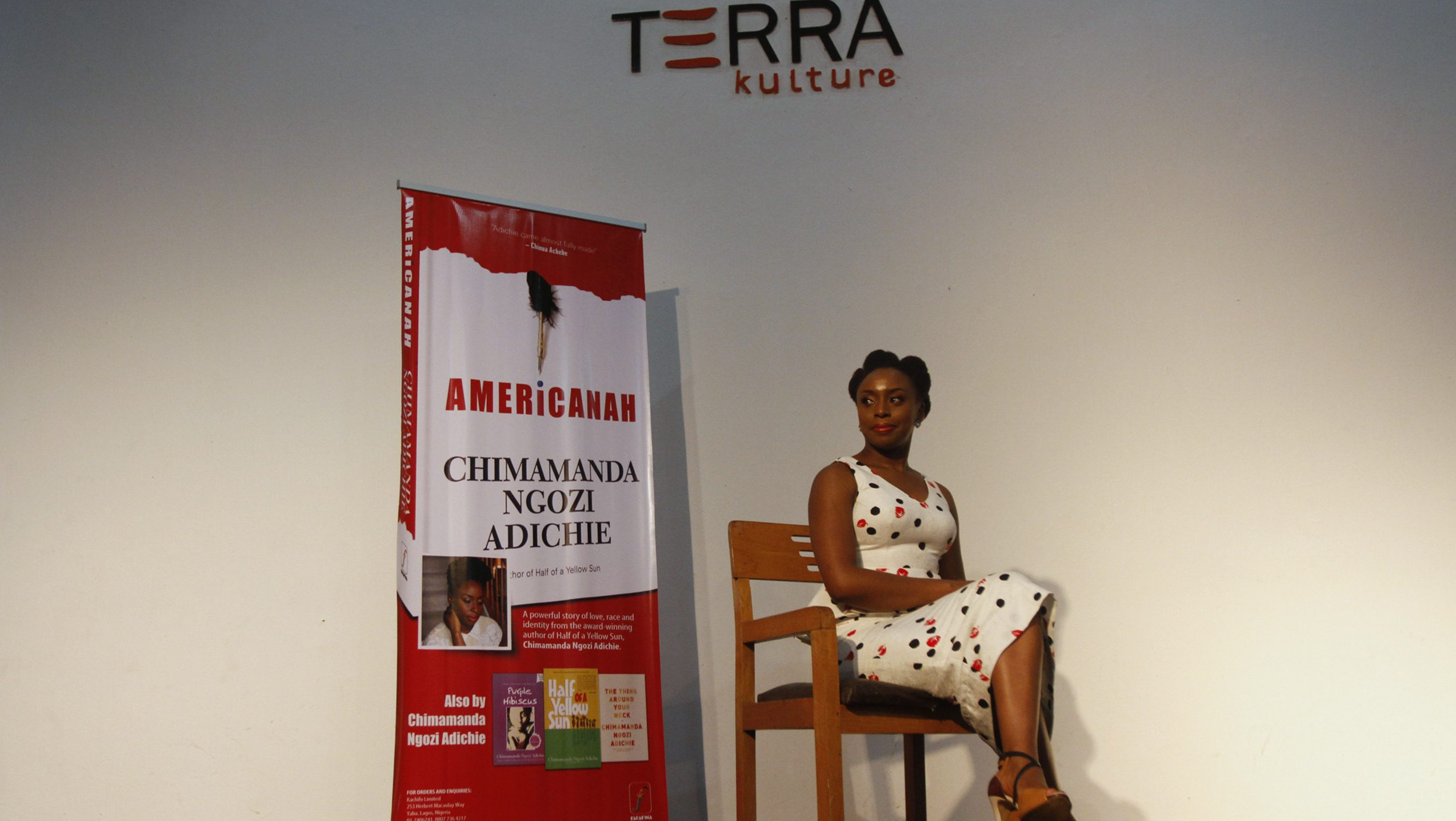 Nigerian novelist Chimamanda Ngozi Adichie poses for a photograph after a reading of her new book 'Americanah' in Lagos