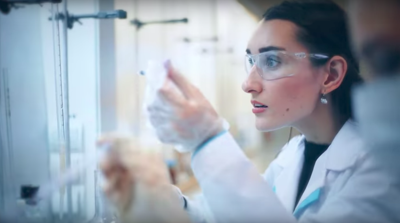 A promotional video for a new city called Neom features a Saudi woman in biotechnology.