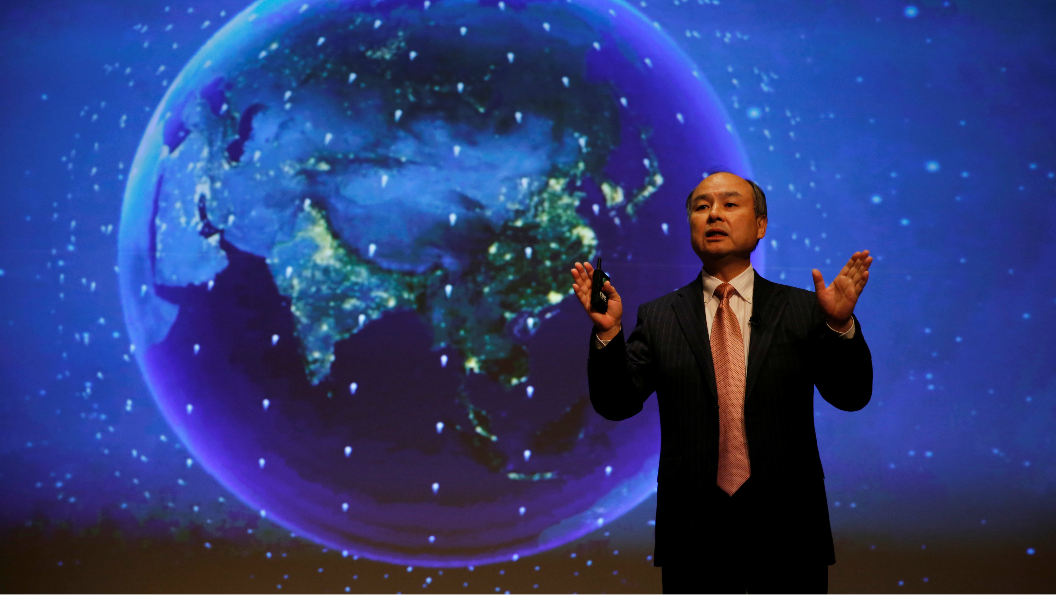 SoftBank Group Corp Chairman and CEO Masayoshi Son attends a news conference in Tokyo, Japan, February 8, 2017.