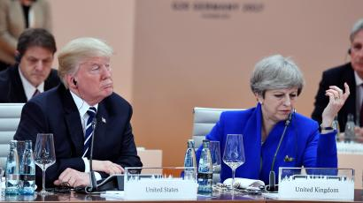US President Donald Trump and Britain's Prime Minister Theresa May