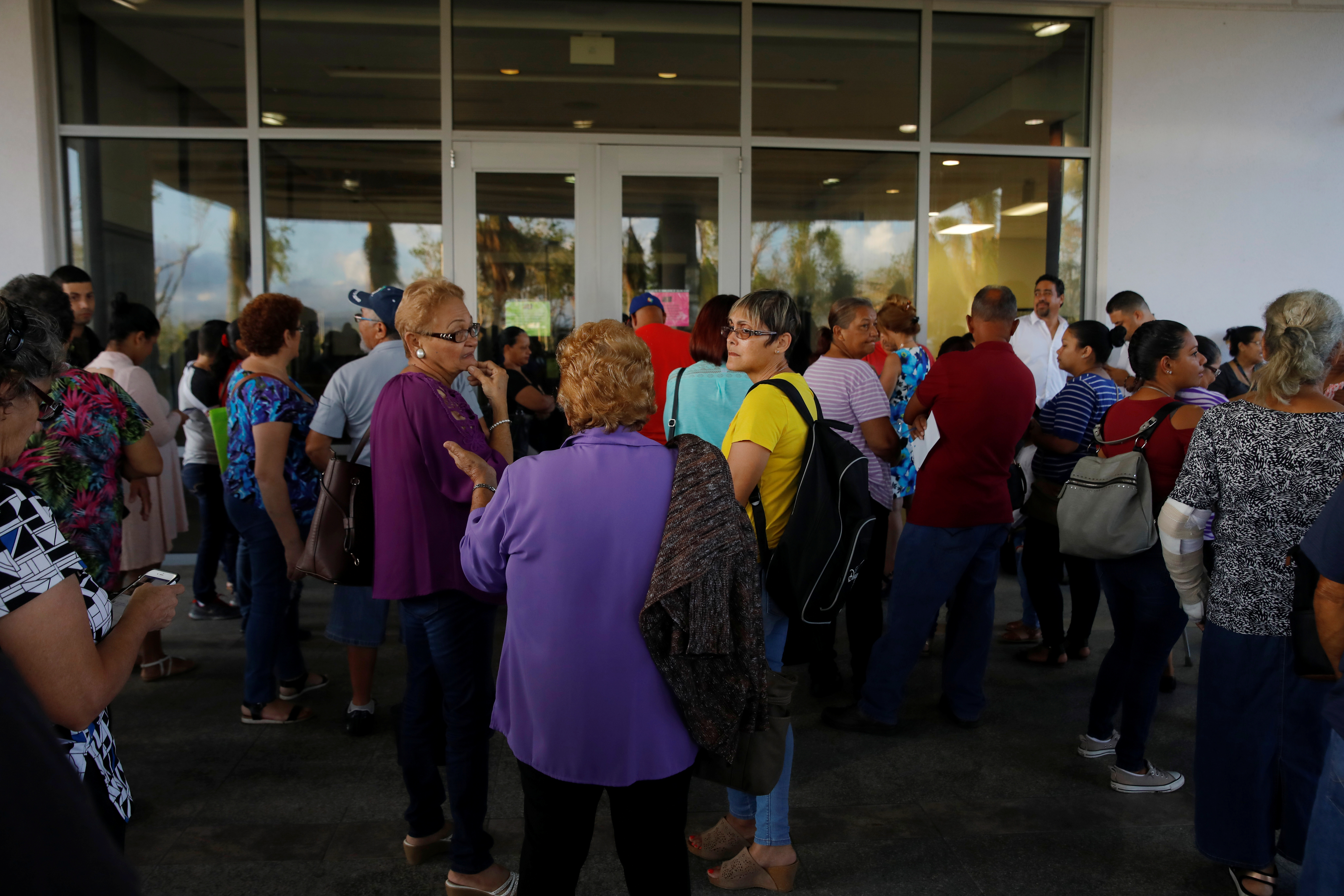 Residents affected by Hurricane Maria wait for medical specialists to arrive