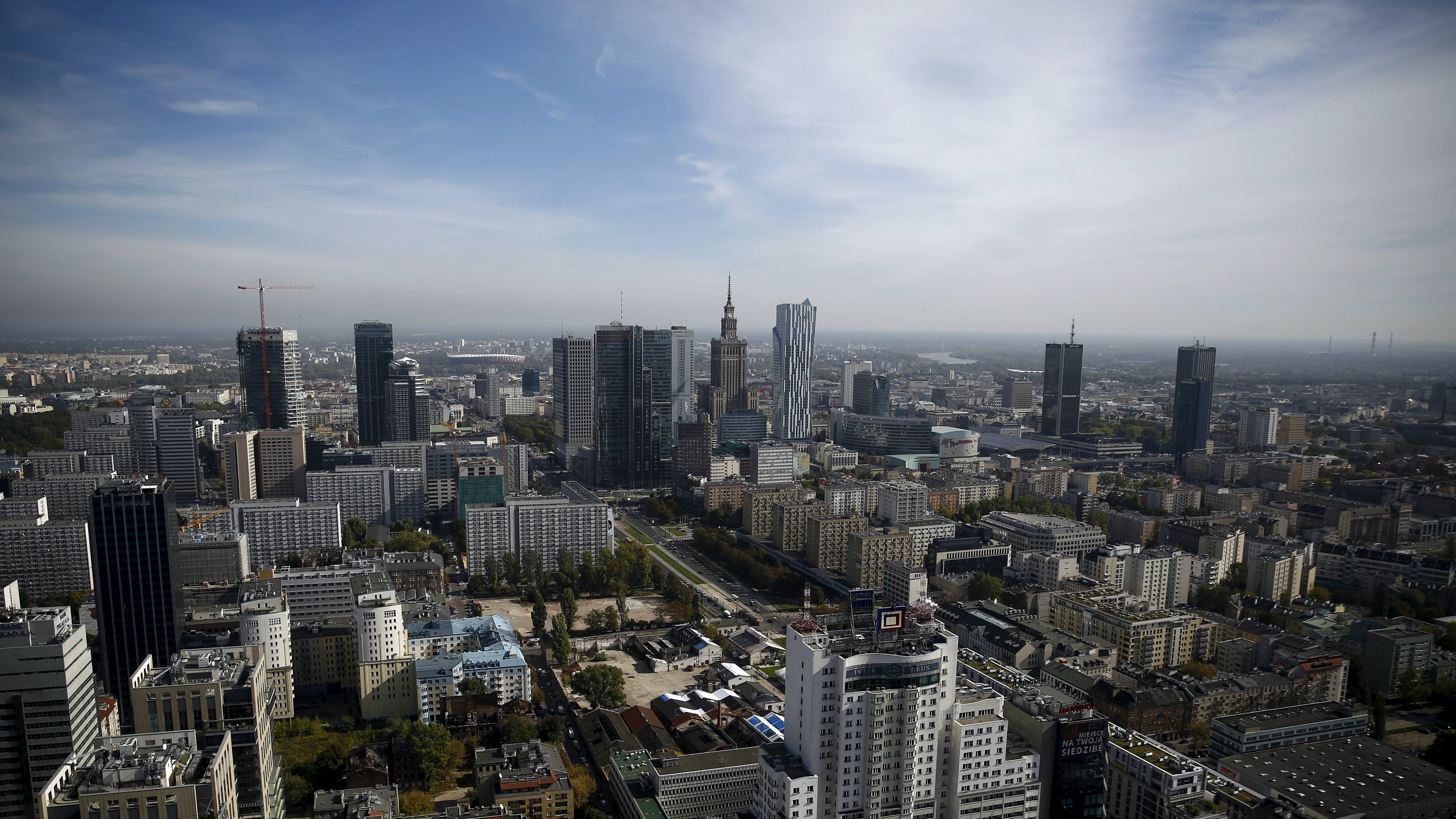 View of Warsaw, Poland