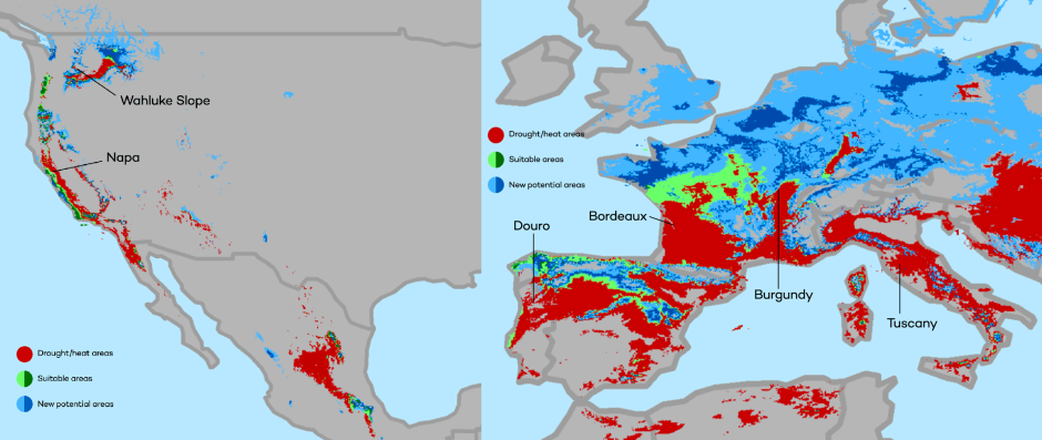 The New Wine Map Of The World With Climate Change Quartzy - Michigan wineries map