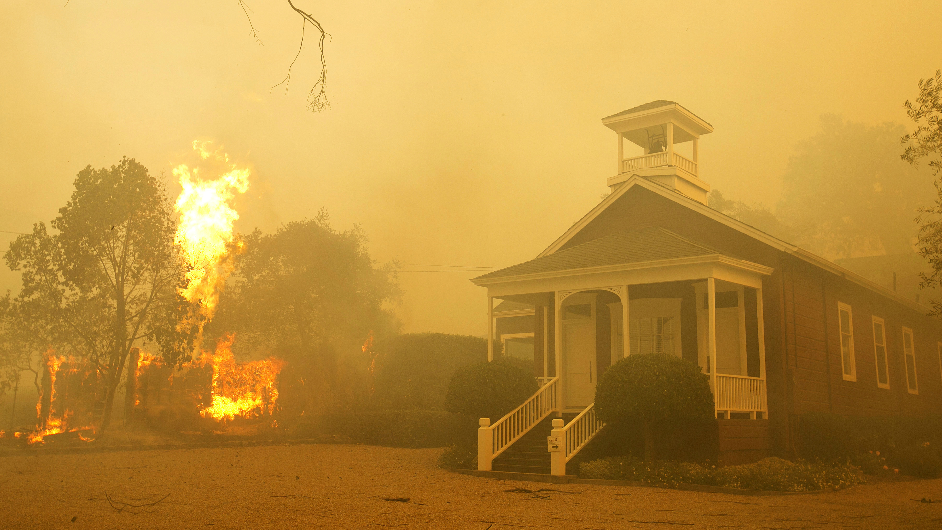 Napa Valley fires are ripping through wine country.
