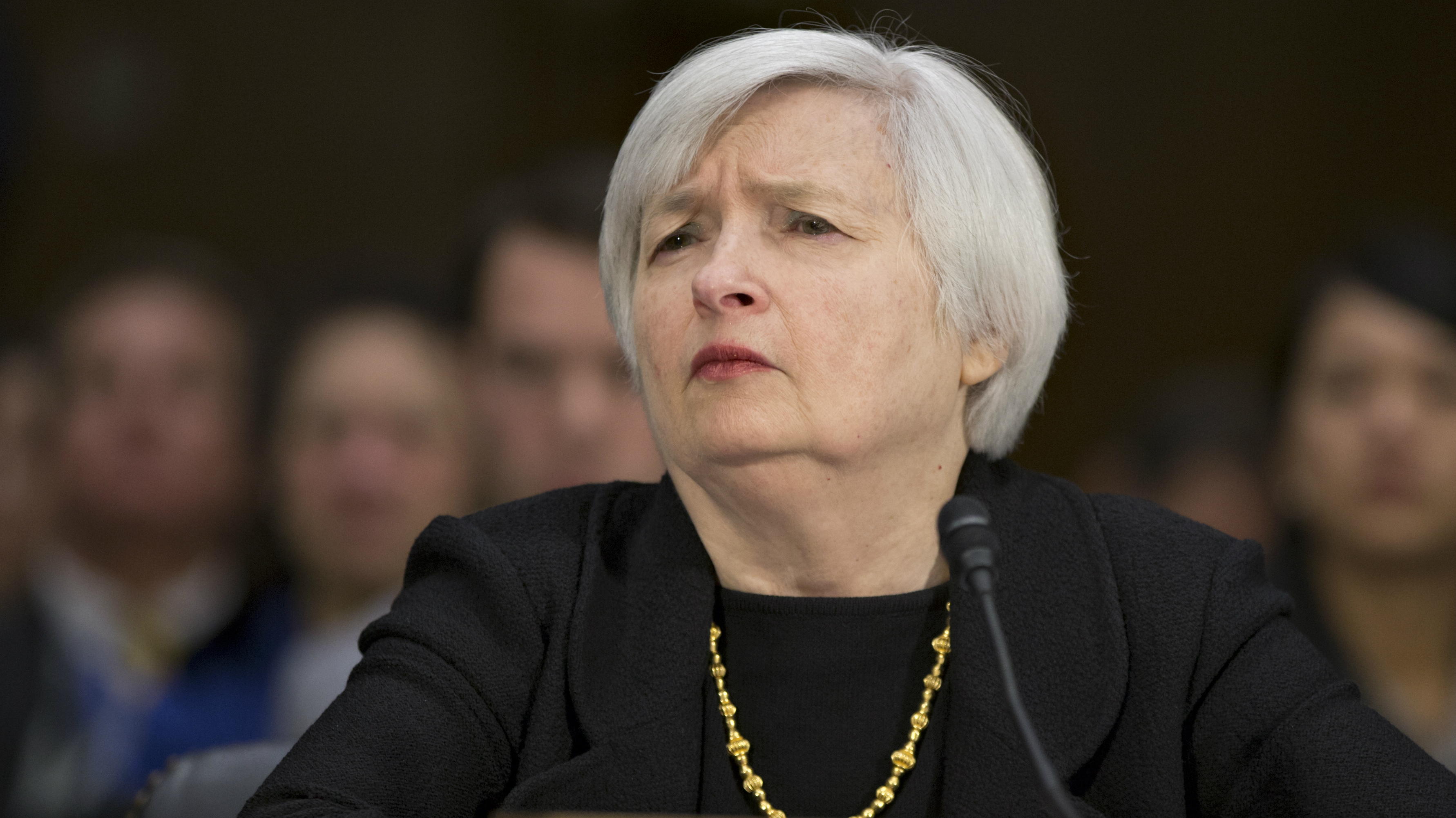 Janet Yellen at her confirmation hearing.