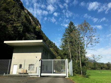 The entrance to the Deltalis data center.