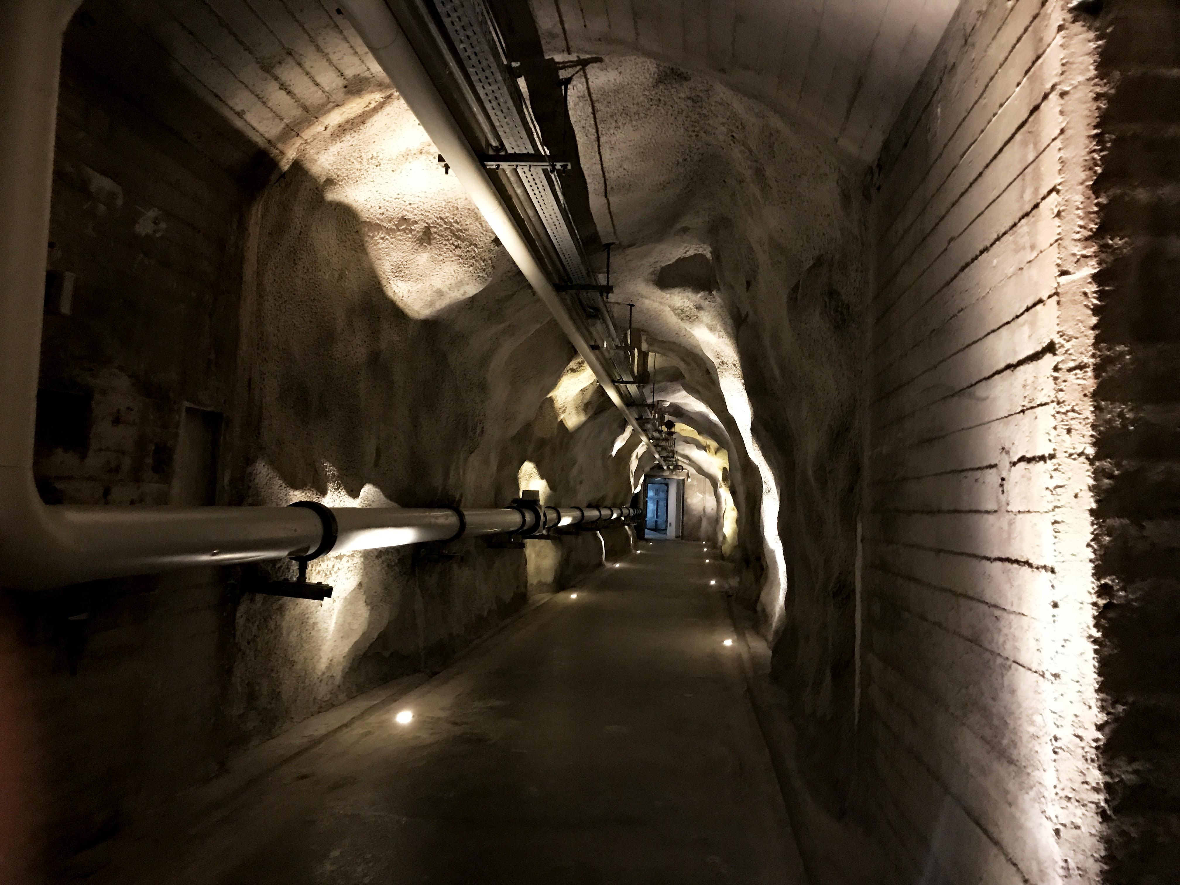 A passageway through the granite mountain.