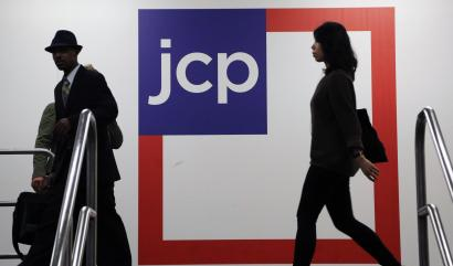 FILE - In this April 9, 2013, file photo, customers arrive at a J.C. Penney store in New York. J.C. Penney reports financial results Friday, Aug. 12, 2016. (AP Photo/Mark Lennihan, File)