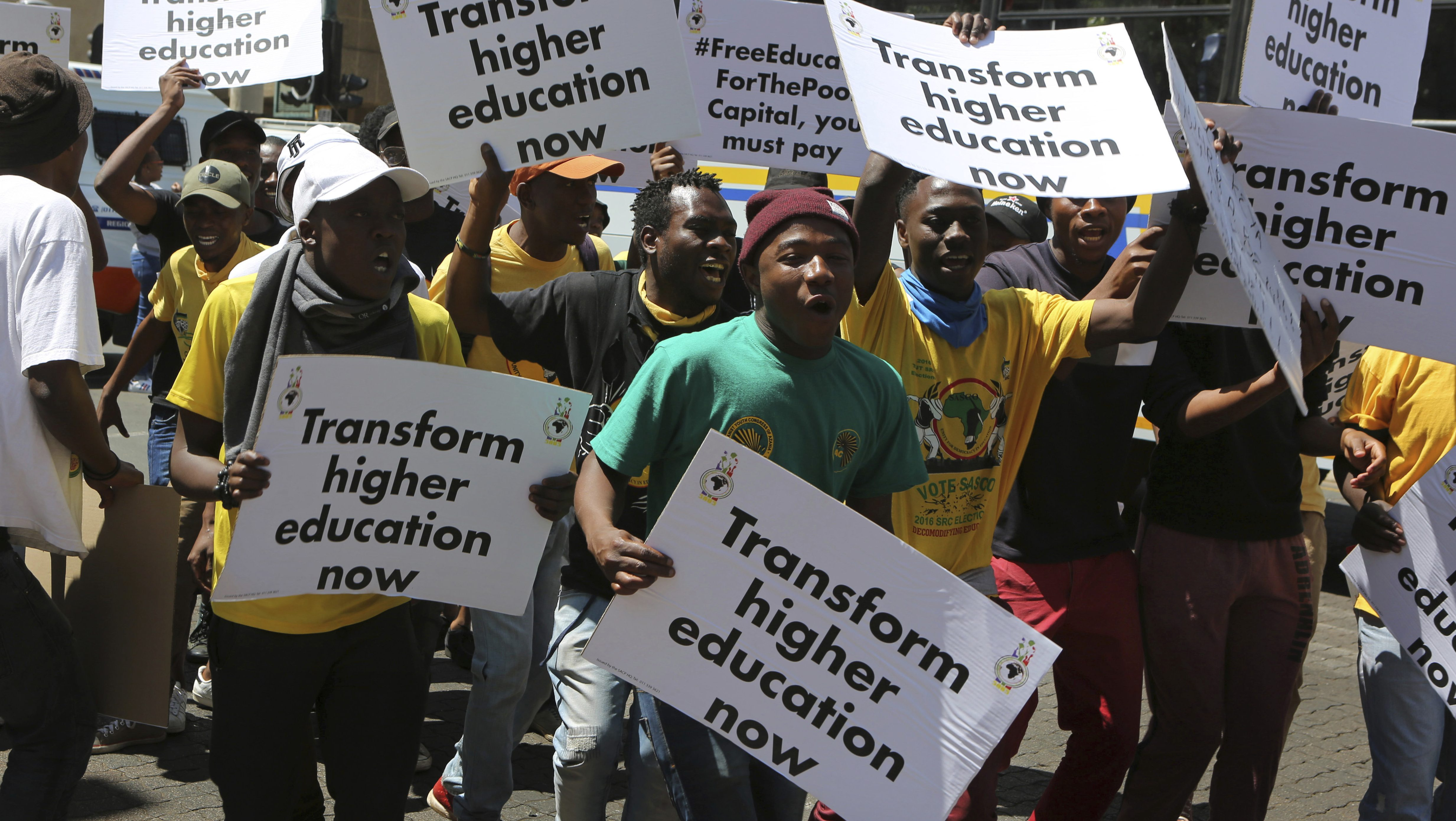 south africa fees commission free education isn t possible quartz