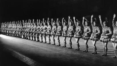 The Radio City Rockettes present the Highland Fling in this Dec. 2, 1940 file photo, in New York.
