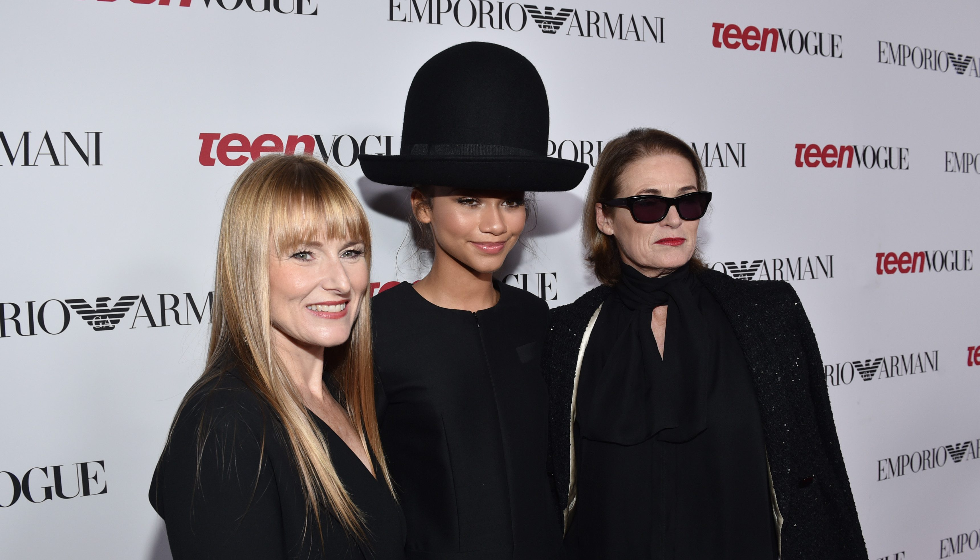 Amy Astley, and from left, Zendaya and Lisa Love arrive at Teen Vogue's Young Hollywood Party on Friday, Sept. 26, 2014, in Beverly Hills, Calif. (Photo by John Shearer/Invision/AP)