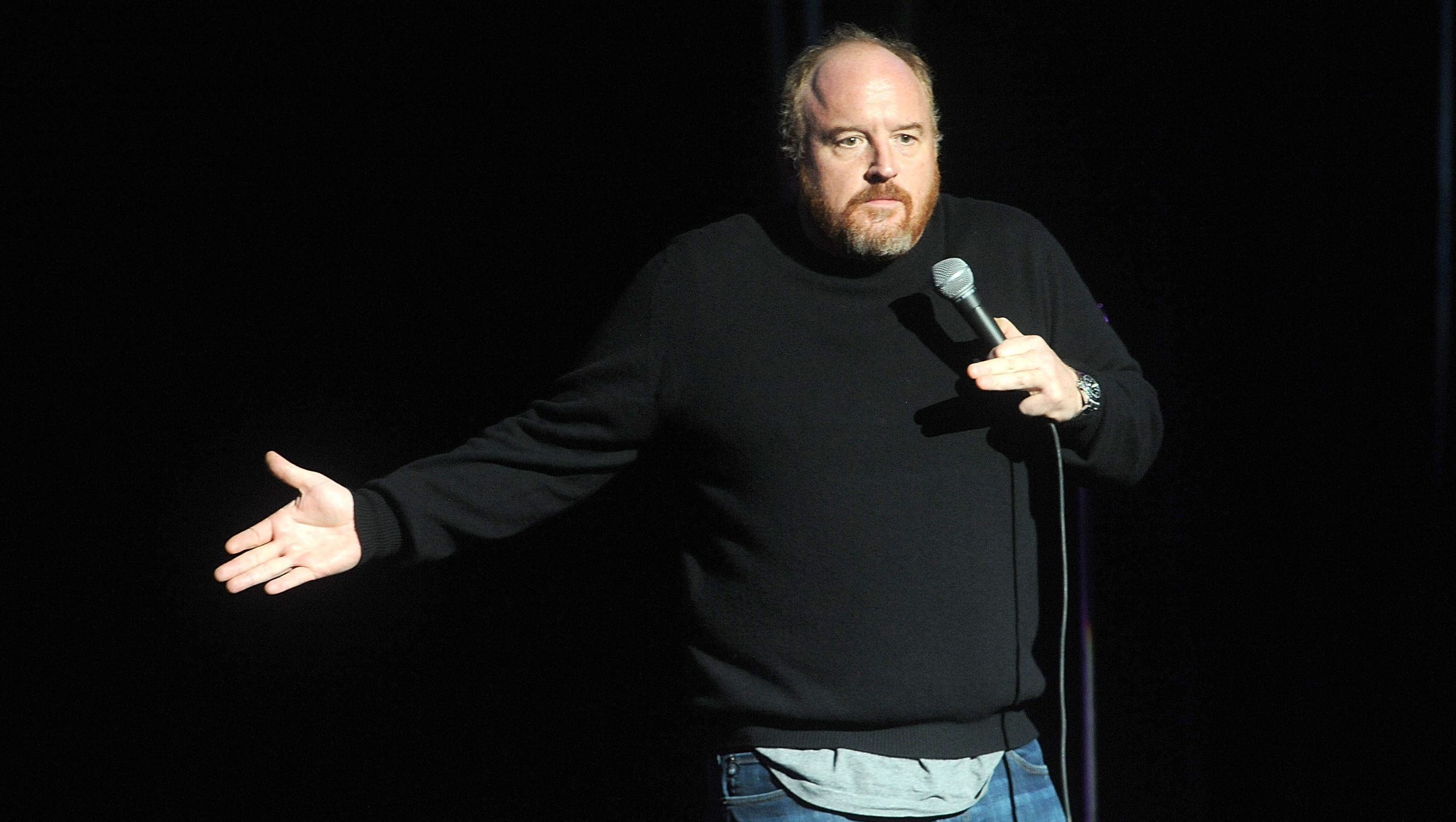 Louis C.K. performs at the 8th Annual Stand Up For Heroes, presented by New York Comedy Festival and The Bob Woodruff Foundation, at the Theater at Madison Square Garden on Wednesday, Nov. 5, 2014, in New York. (Photo by Brad Barket/Invision/AP)